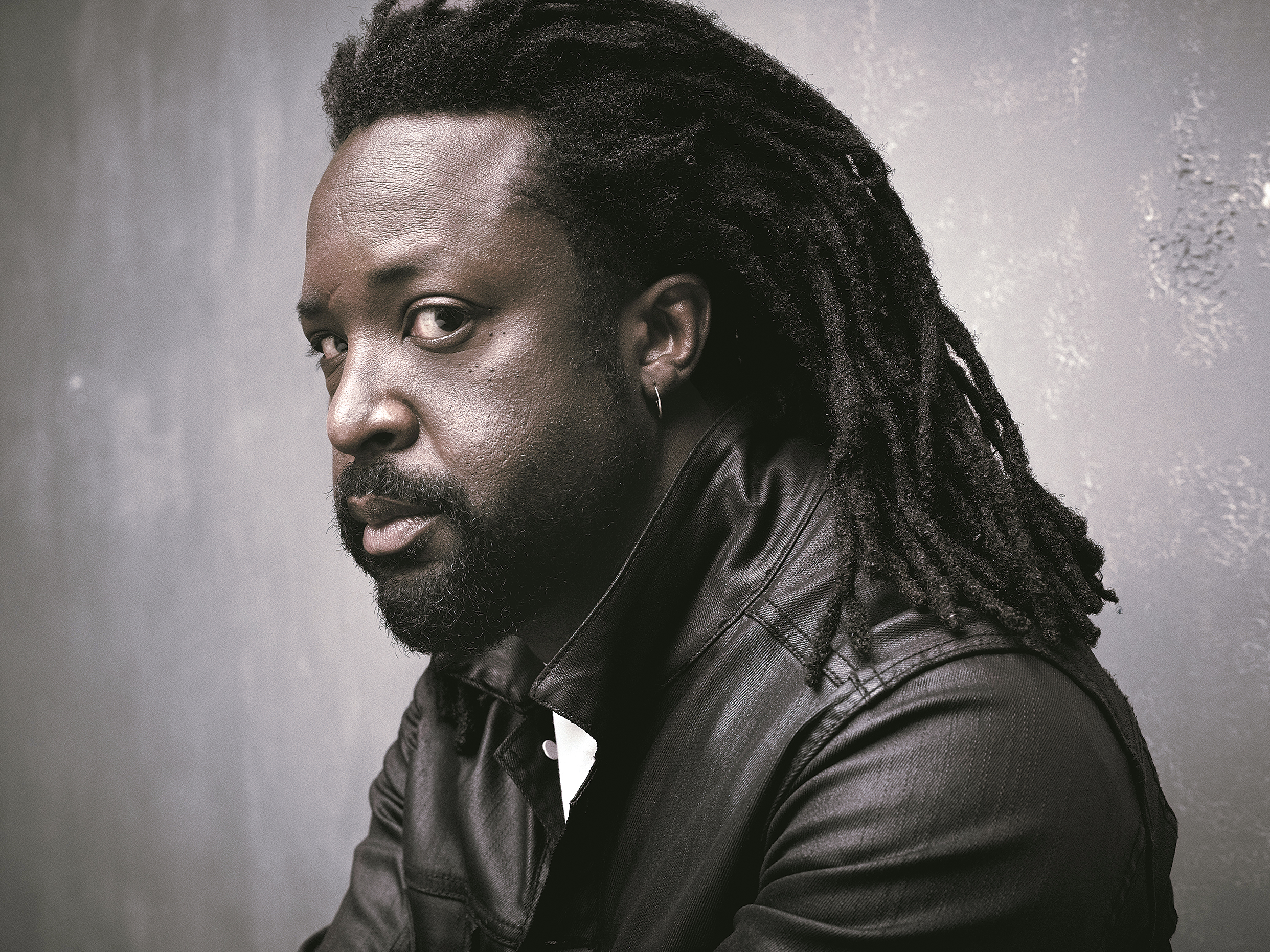 Photograph of Marlon James by Mark Seliger.