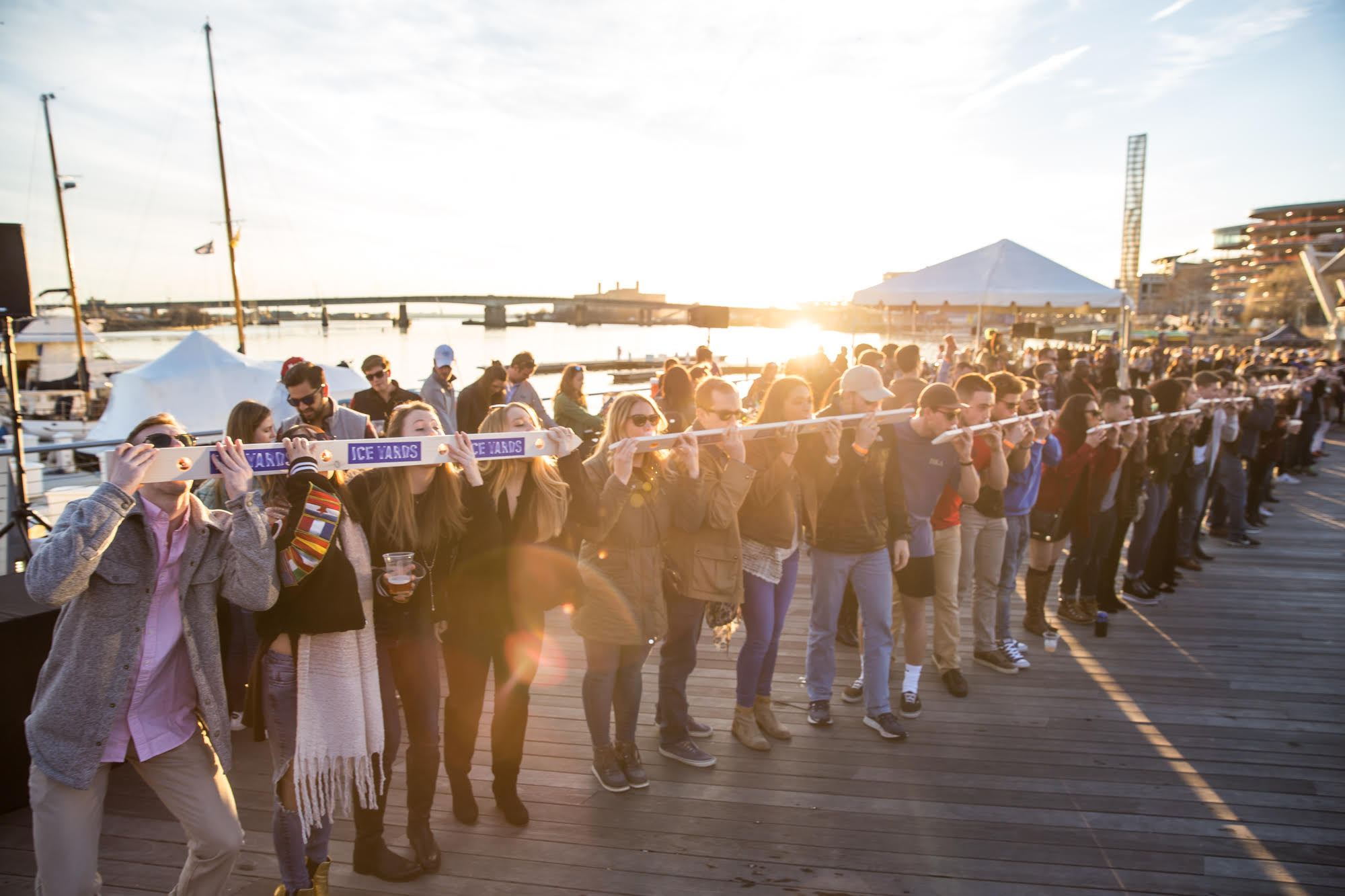 Ice Yards on Saturday is making an attempt at largest group shot ski in DC. Photograph courtesy of Ice Yards.