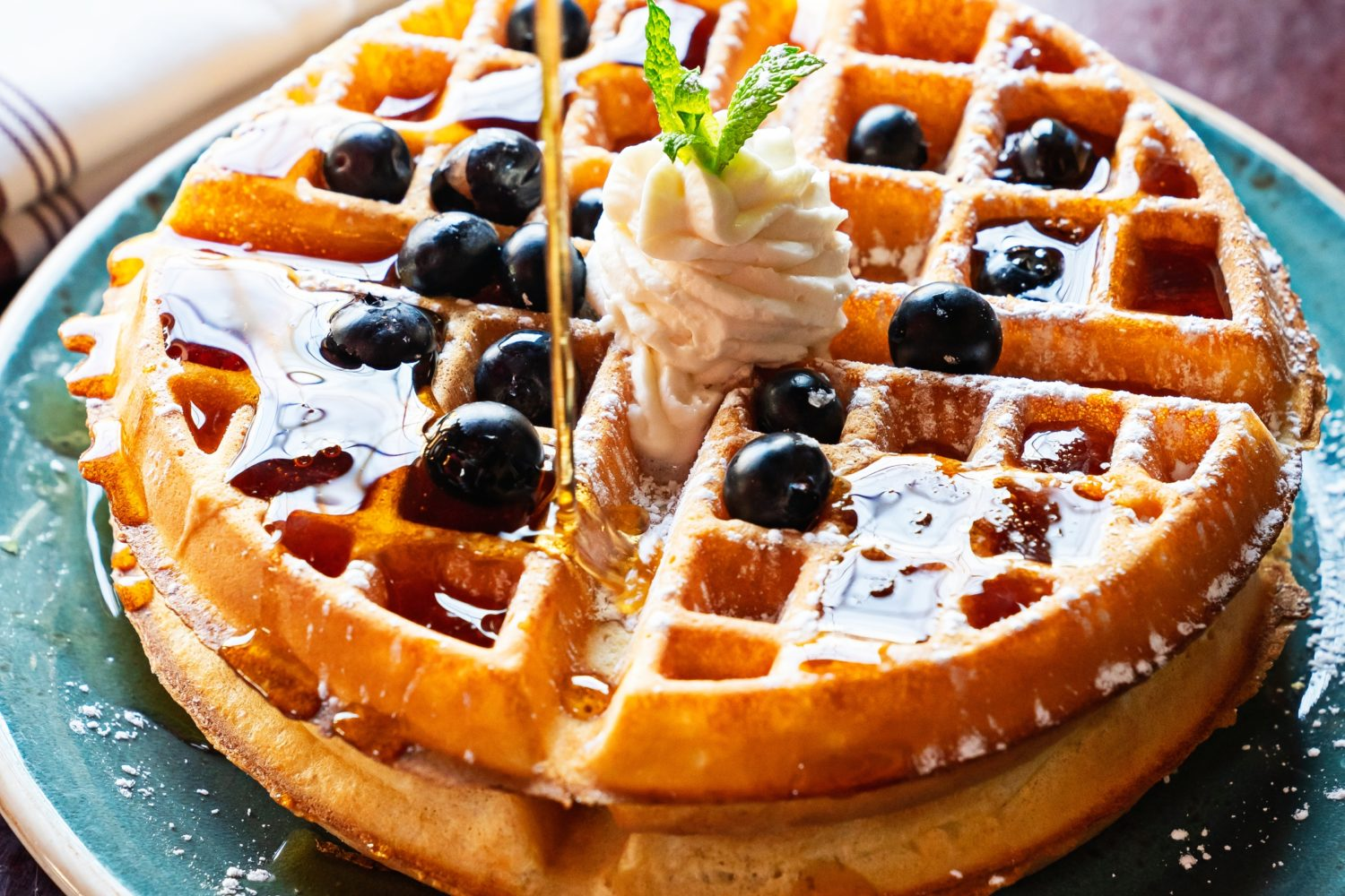 Blueberry ricotta waffles at Brookland's Finest. Photograph by Scott Suchman.