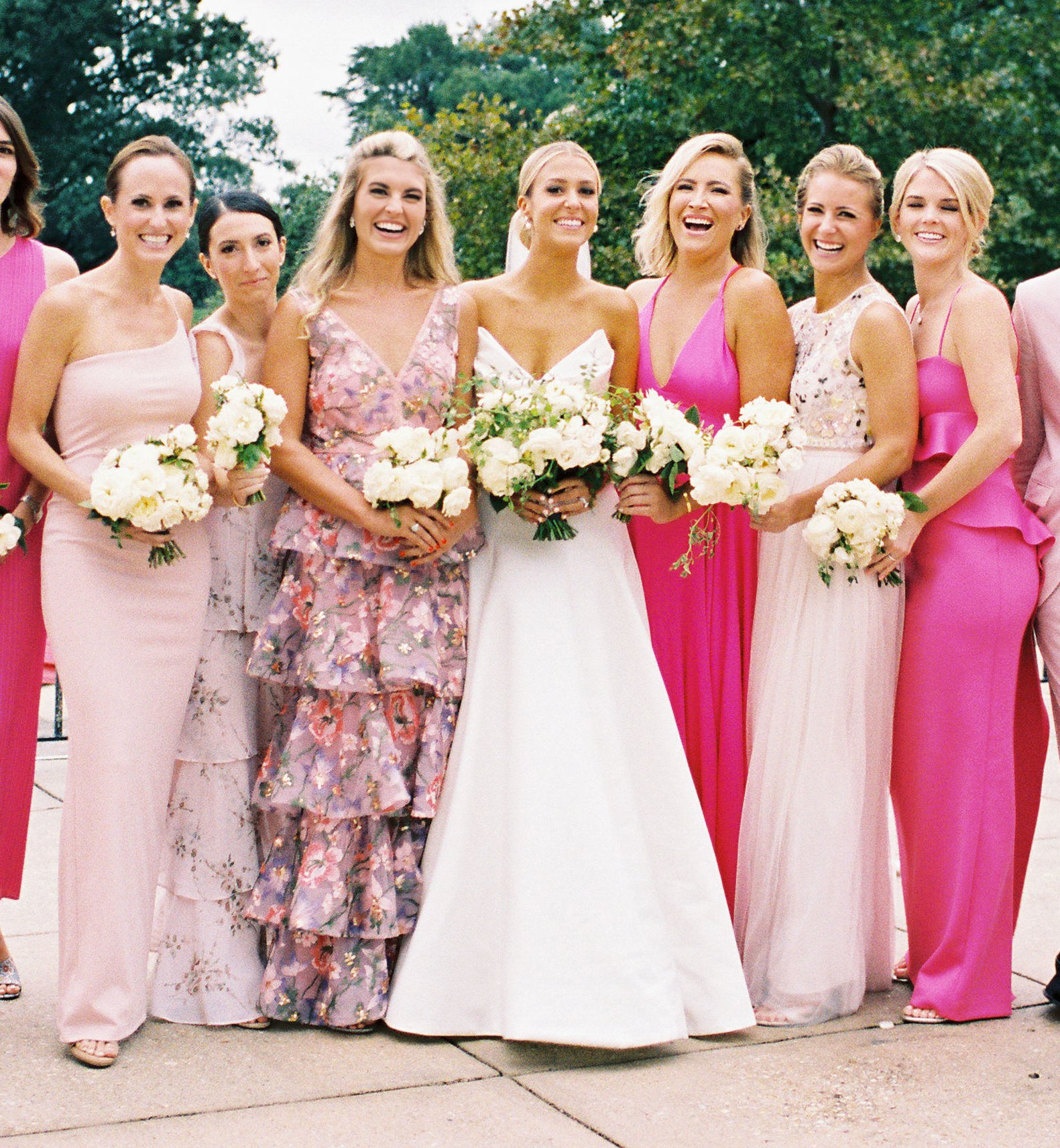 These 'Pretty In Pink' Mix-and-Match Bridesmaids Dresses