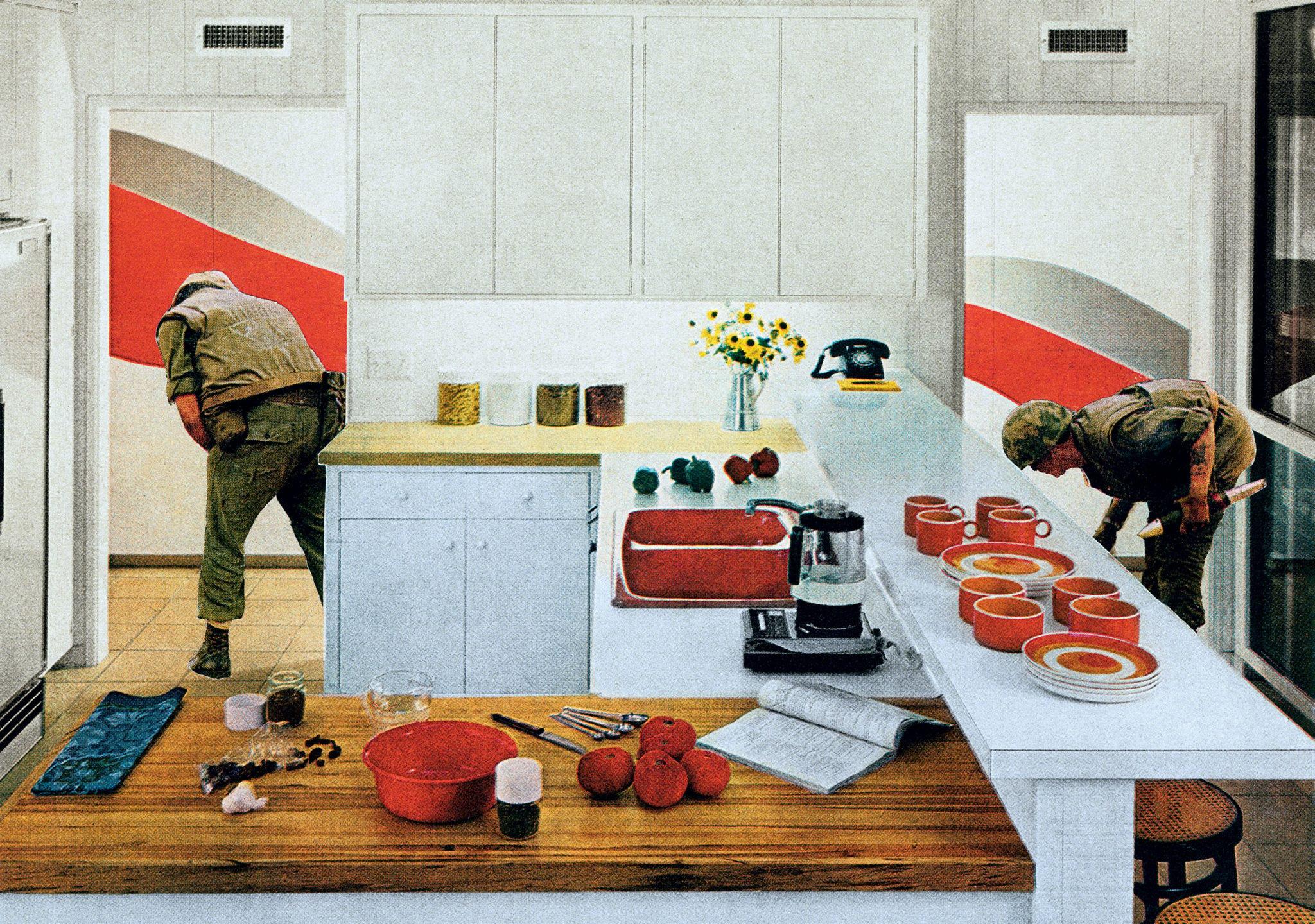 Martha Rosler's Red Stripe Kitchen From The Smithsonian American Art Museum's Artists Respond And Vietnam War 19651975: Smithsonian Blanket Wedding Ring At Reisefeber.org