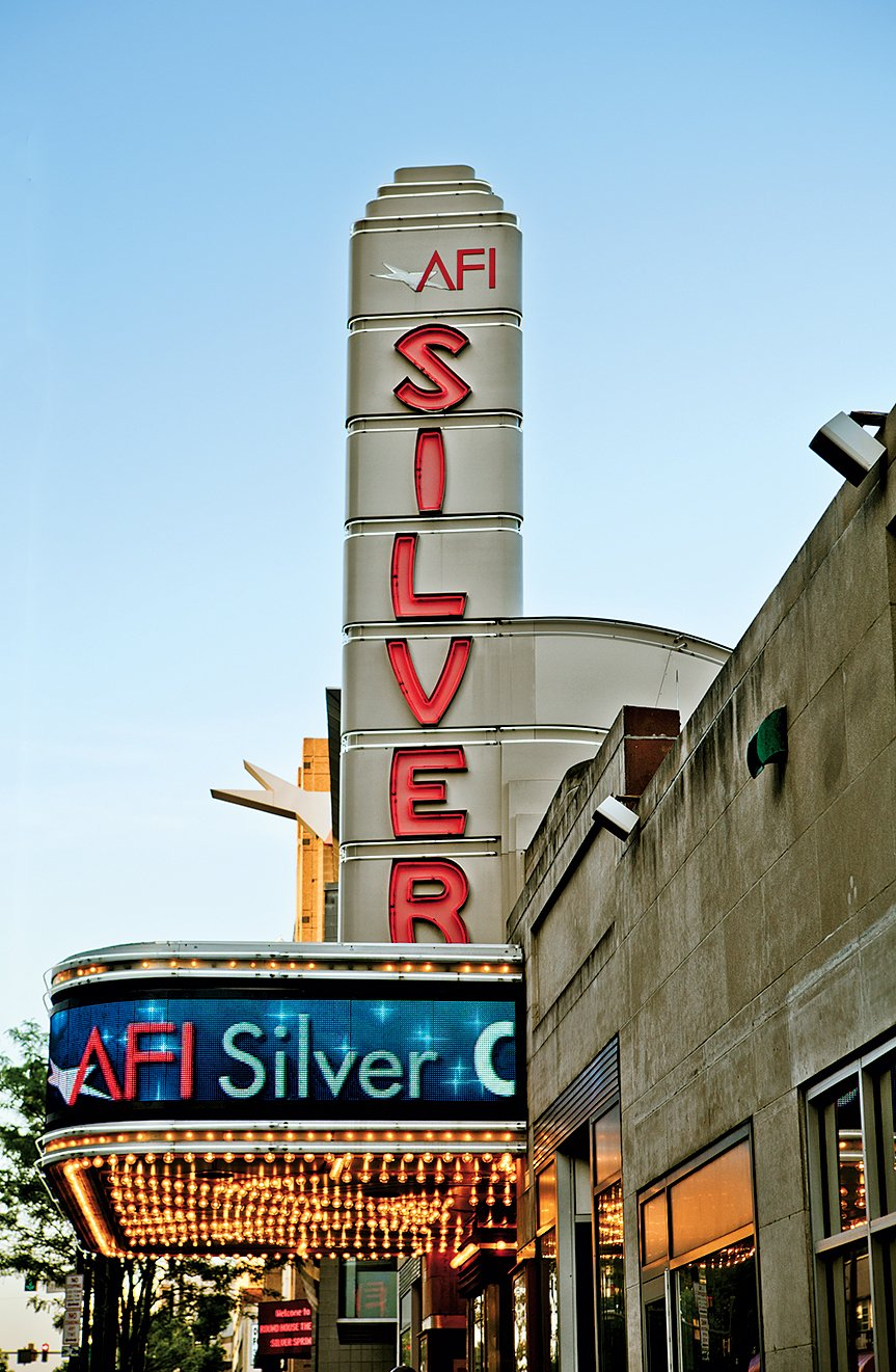 The AFI Silver Theatre and Cultural Center is partially housed in a restored Art Deco movie palace built in 1938. Photograph by Randy Santos/DCStockPhotos.