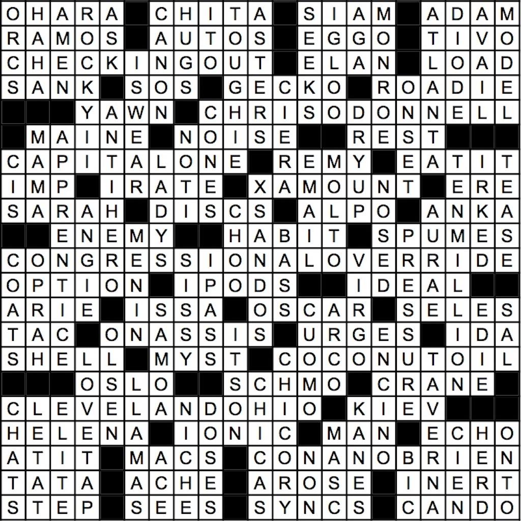March 2019 Crossword Answer Key | Washingtonian (DC)