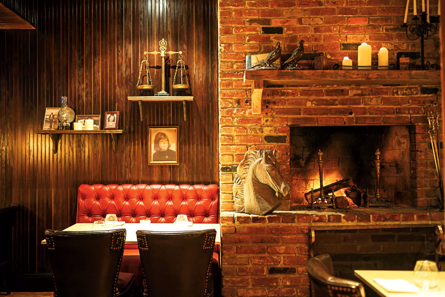 Sip by the fire at Iron Gate. Photograph courtesy of Iron Gate.