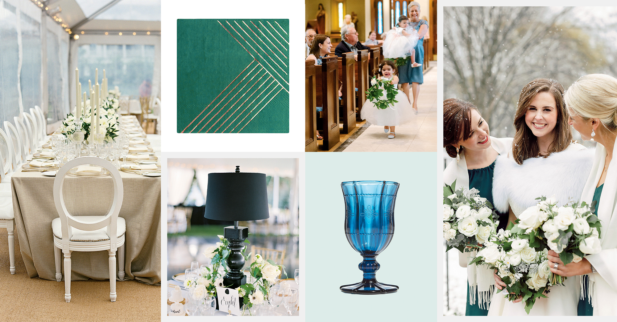 Winter Weddings, Emerald Green, and Flower Girl Posies: Check Out These Nine Weddings Trends We're Loving Right Now