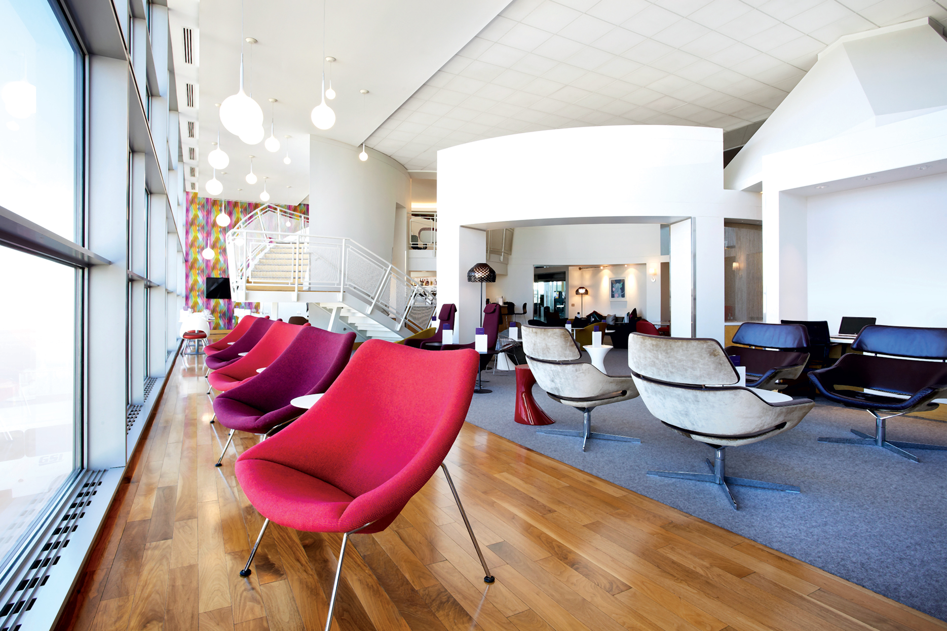 The Virgin Atlantic lounge at Dulles. Photograph courtesy of Virgin Atlantic.