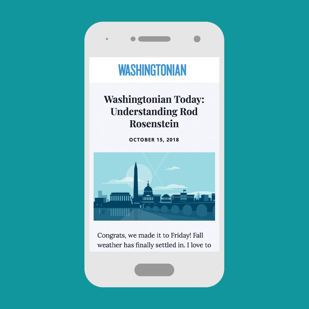 Subscribe Washingtonian: Newsletters