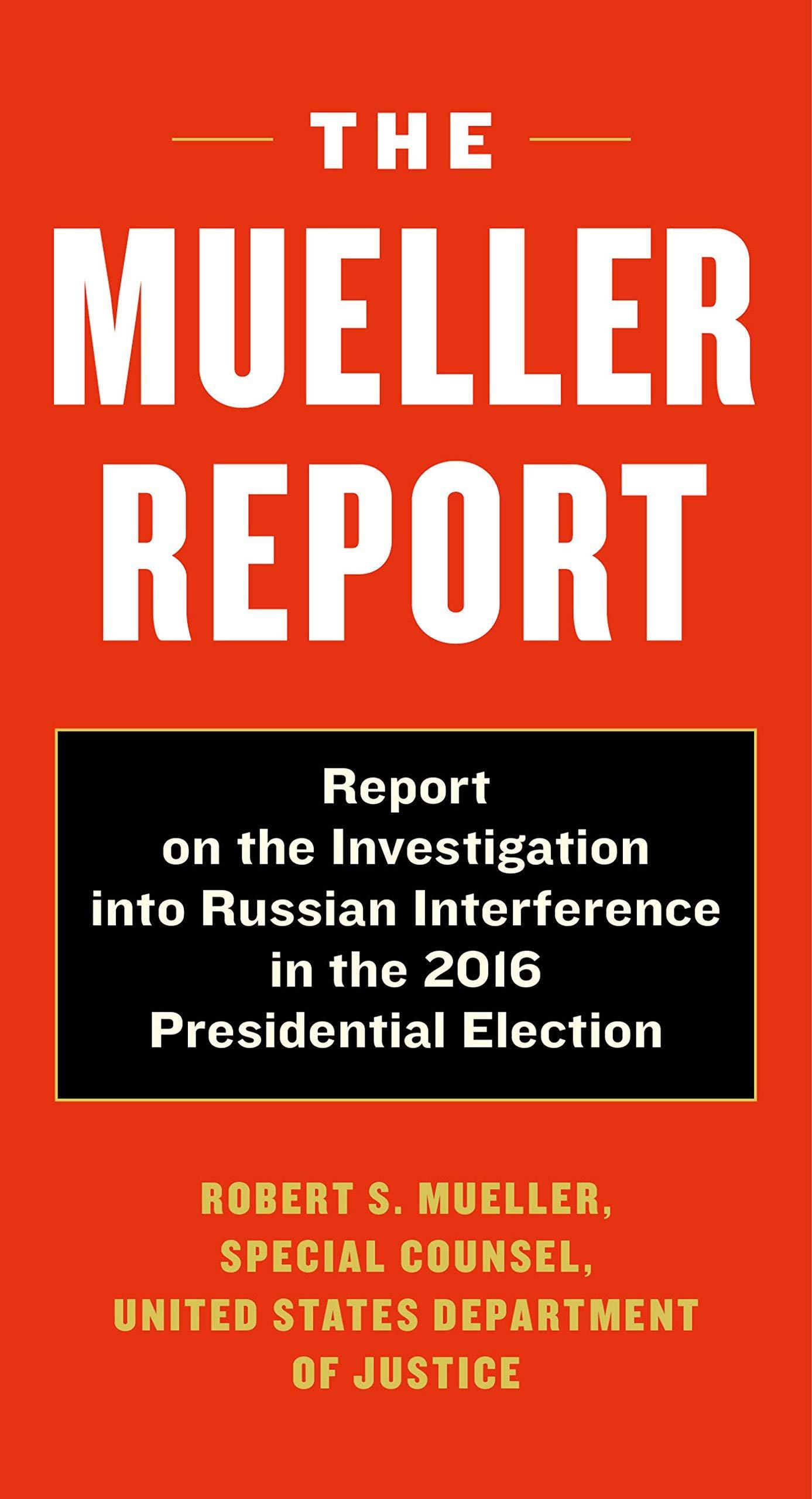 mueller report book cover