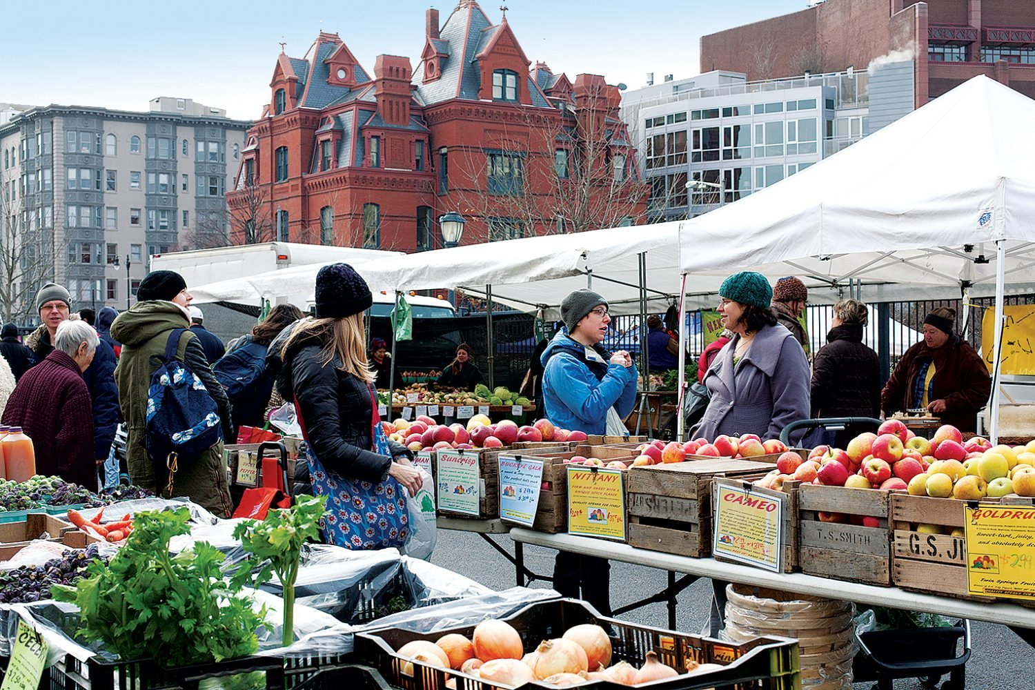 Dupont's Sunday farmers market is a favorite among local chefs. Photograph by Hong Le.