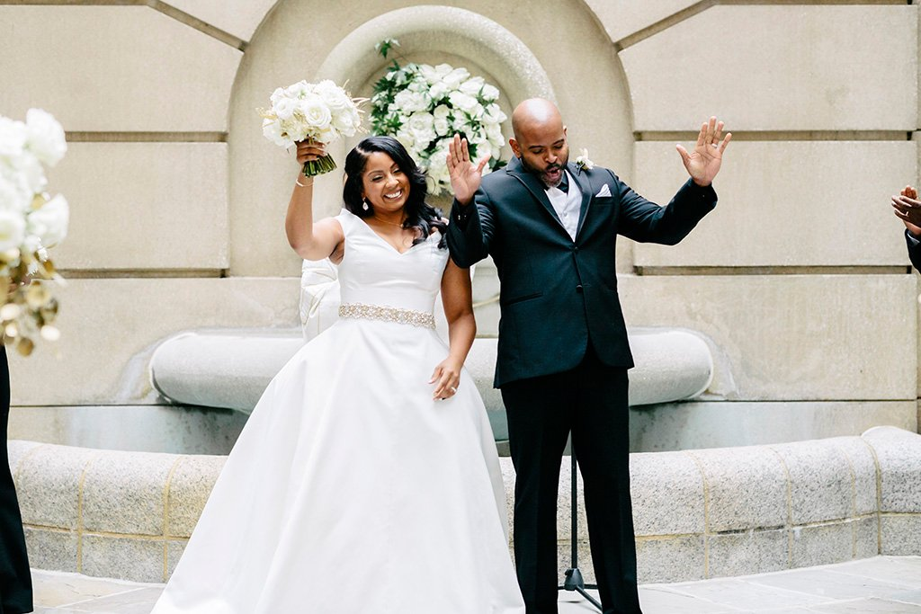 4cb43ed510e The Westin Georgetown was Tomika s dream wedding venue. The outdoor European-style  courtyard hosted the couple s intimate ceremony.