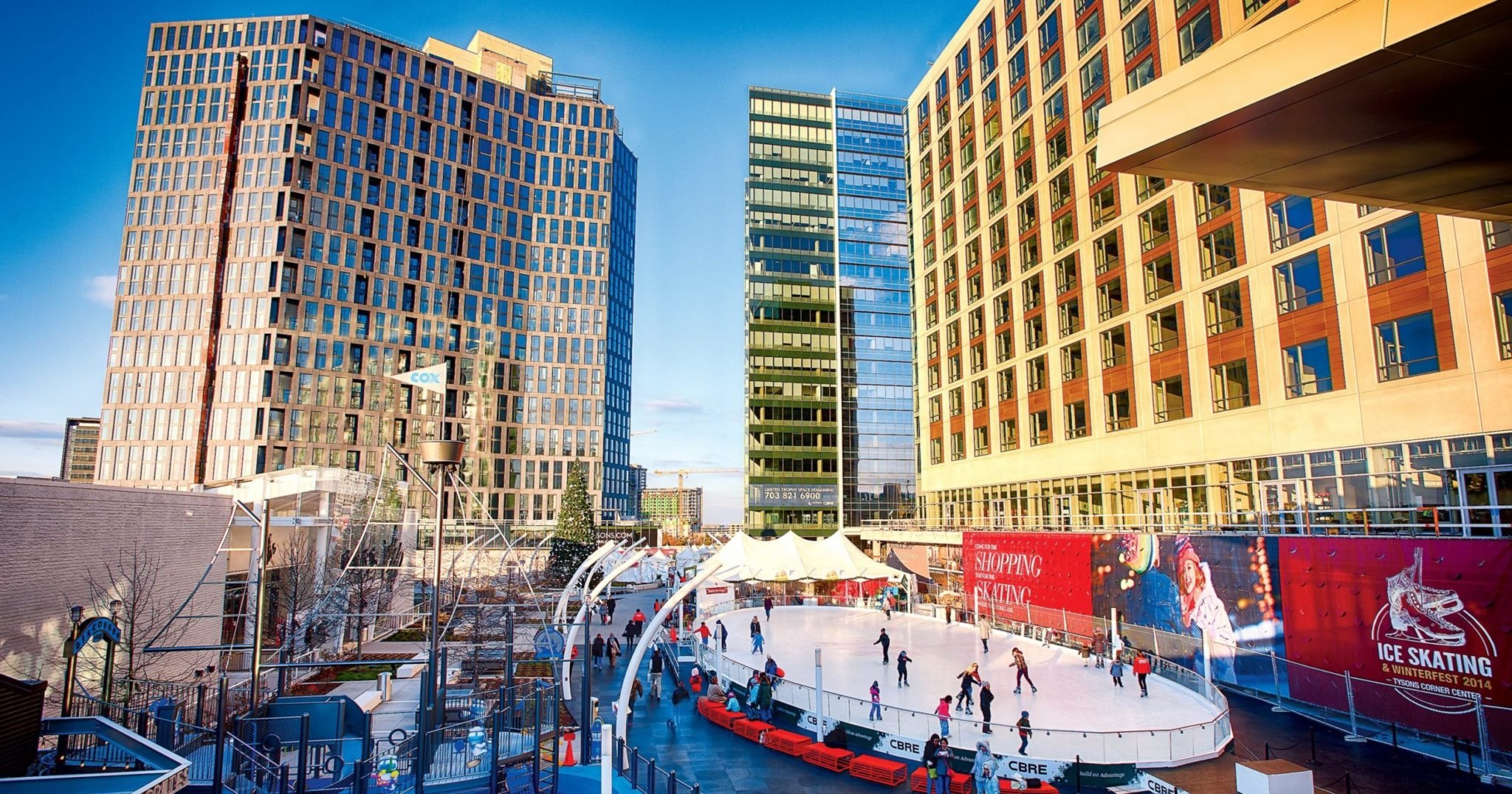 Vienna and McLean Neighborhood Guide: Take a break from the mall with a spin around the ice rink at Tysons Corner Center, open through March 6. Photograph by Rassi Borneo.