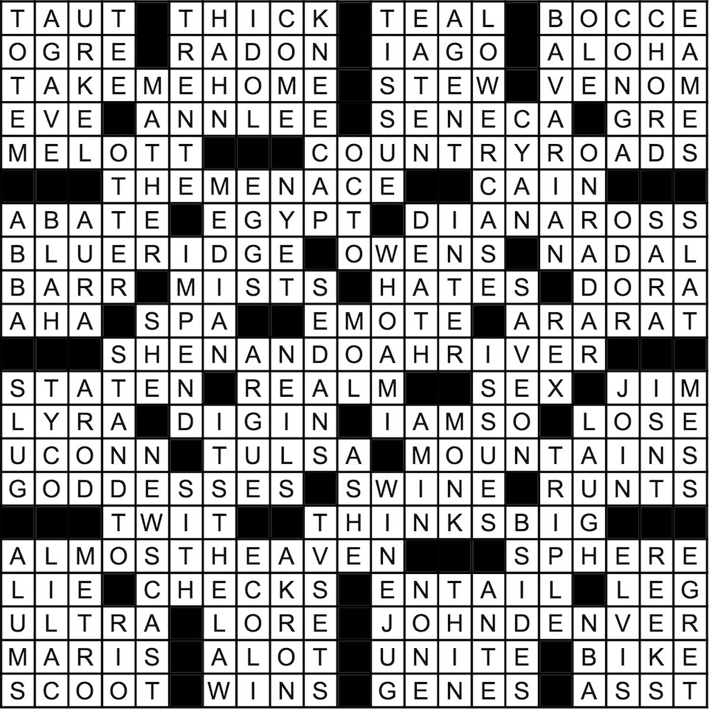 May 2019 Crossword Answer Key Washingtonian Dc