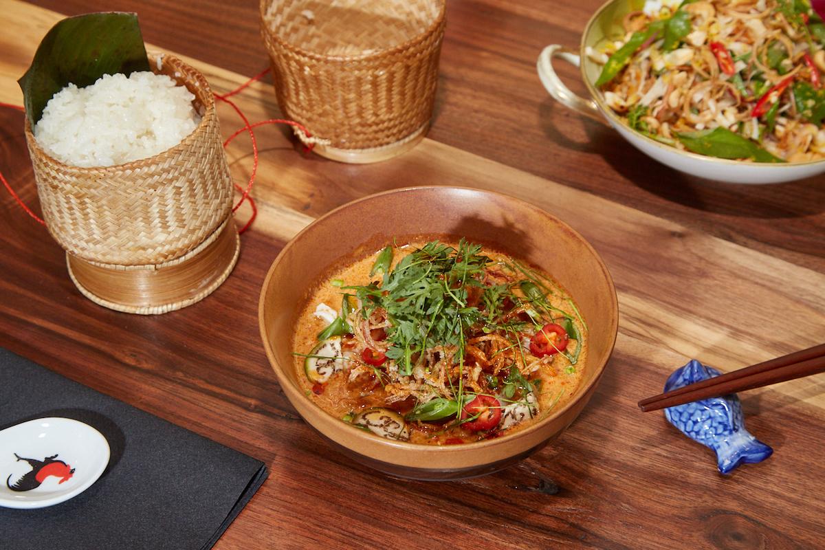 Hanumanh Thip Khao tiki drinks Lao bar food Shaw