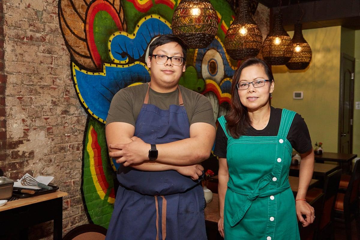 Hanumanh Lao bar restaurant patio from Thip Khao Padaek owners in Shaw.