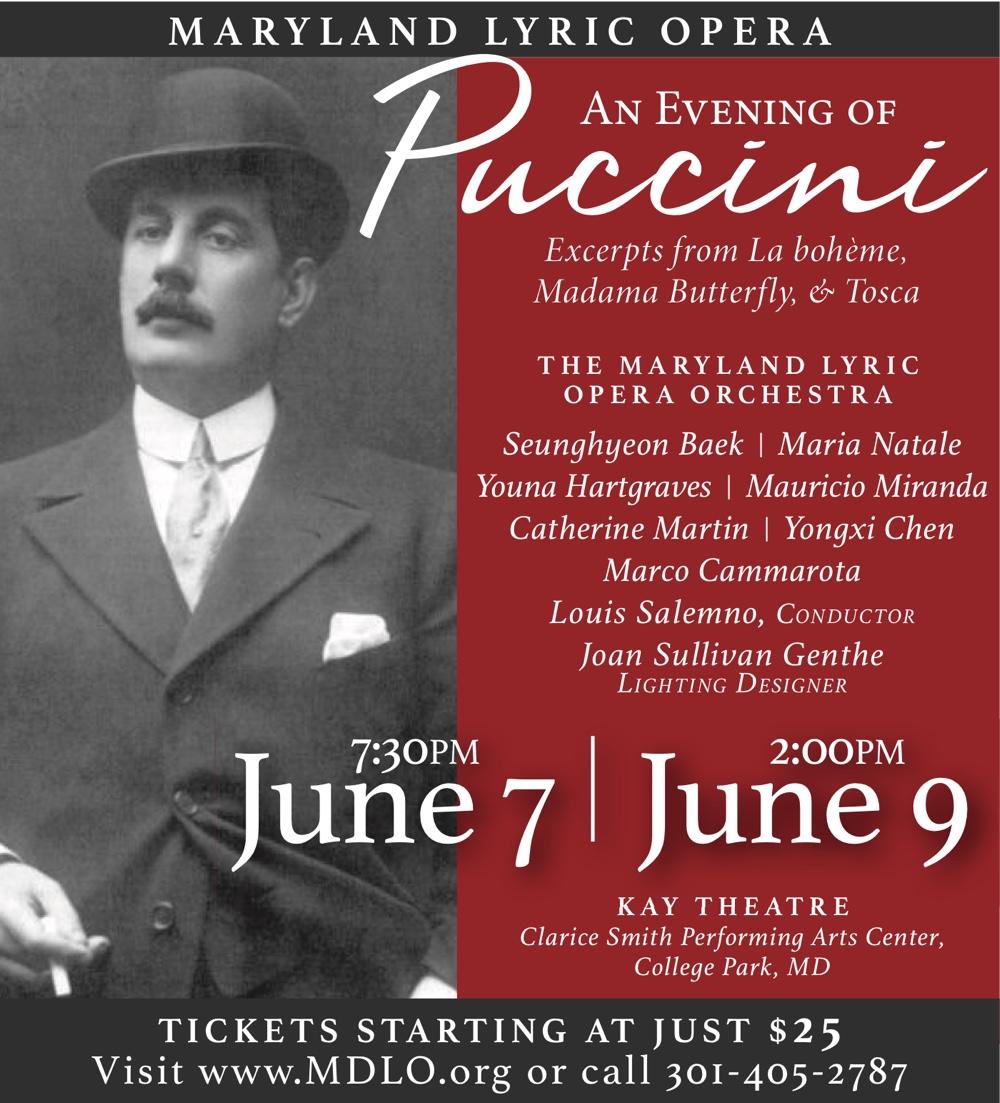 Maryland Lyric Opera: An Evening of Puccini