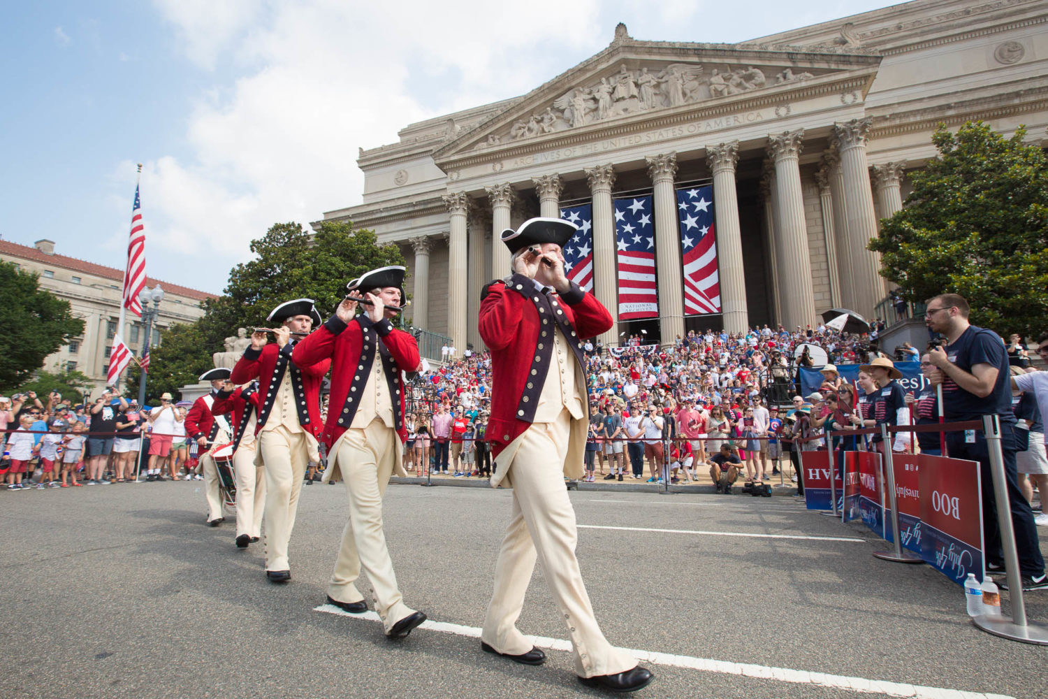 Celebrate the 4th of July at the National Archives followed by the Independence Day Parade. Photograph by Jeff Reed.