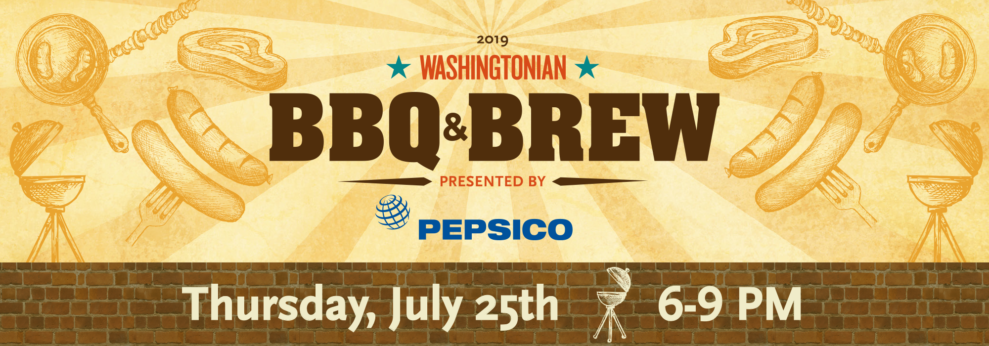 Enjoy an evening of delicious barbecue, burgers, and cold beer and beverages at Washingtonian's BBQ & Brew 2019, presented by PepsiCo!