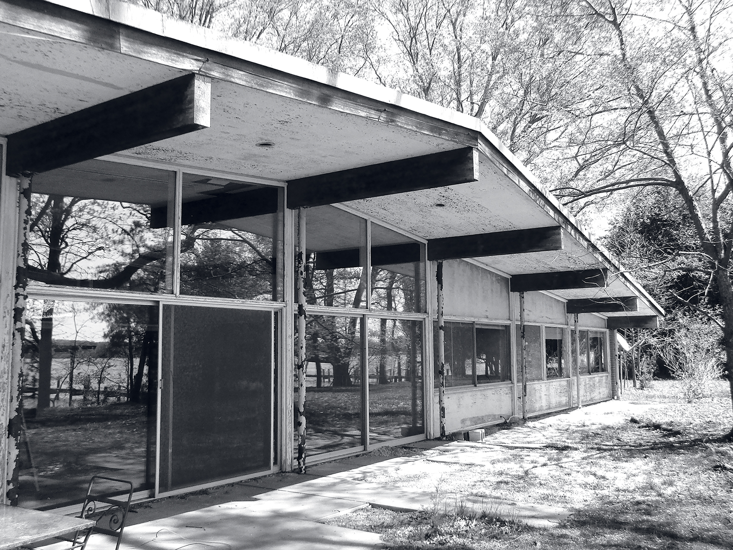 The outside of the home before the renovation. Photograph courtesy of Wiedmann Architects.