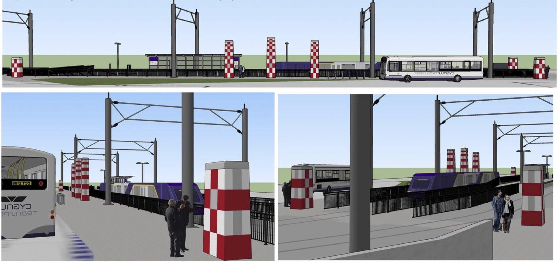 Purple line art
