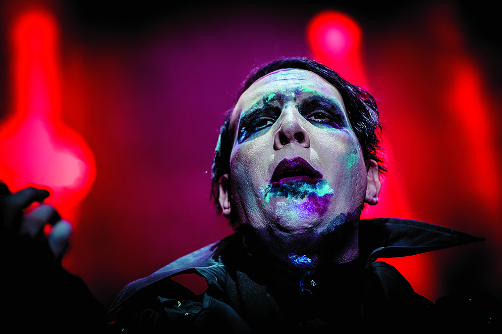 Marilyn Manson Performs on July 26, 2017 in Villafranca di Verona, Italy. (Photo by Francesco Prandoni/Redferns)