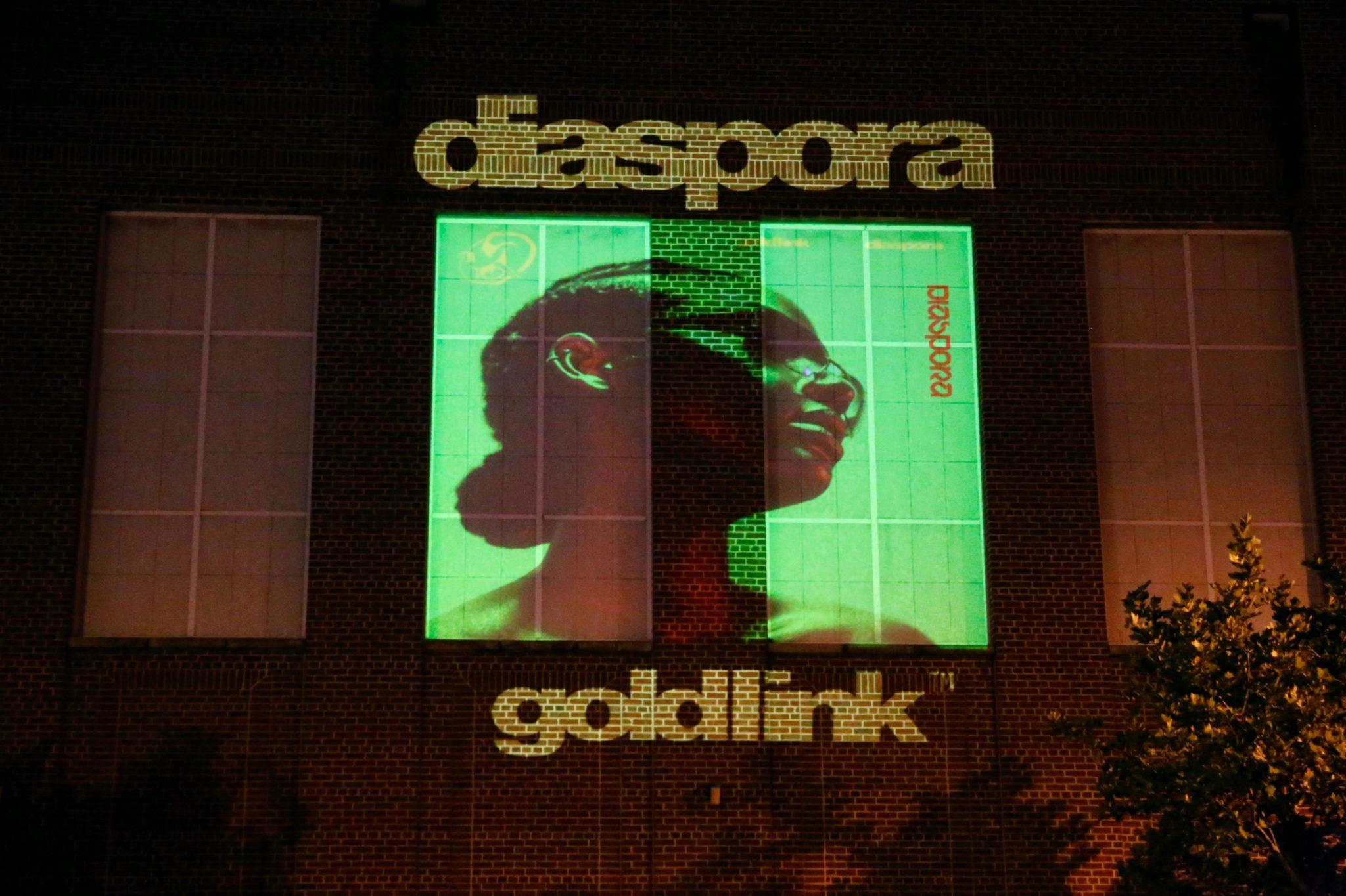 "GoldLink Releases New Album ""Diaspora"" With Art Projections on U Street"