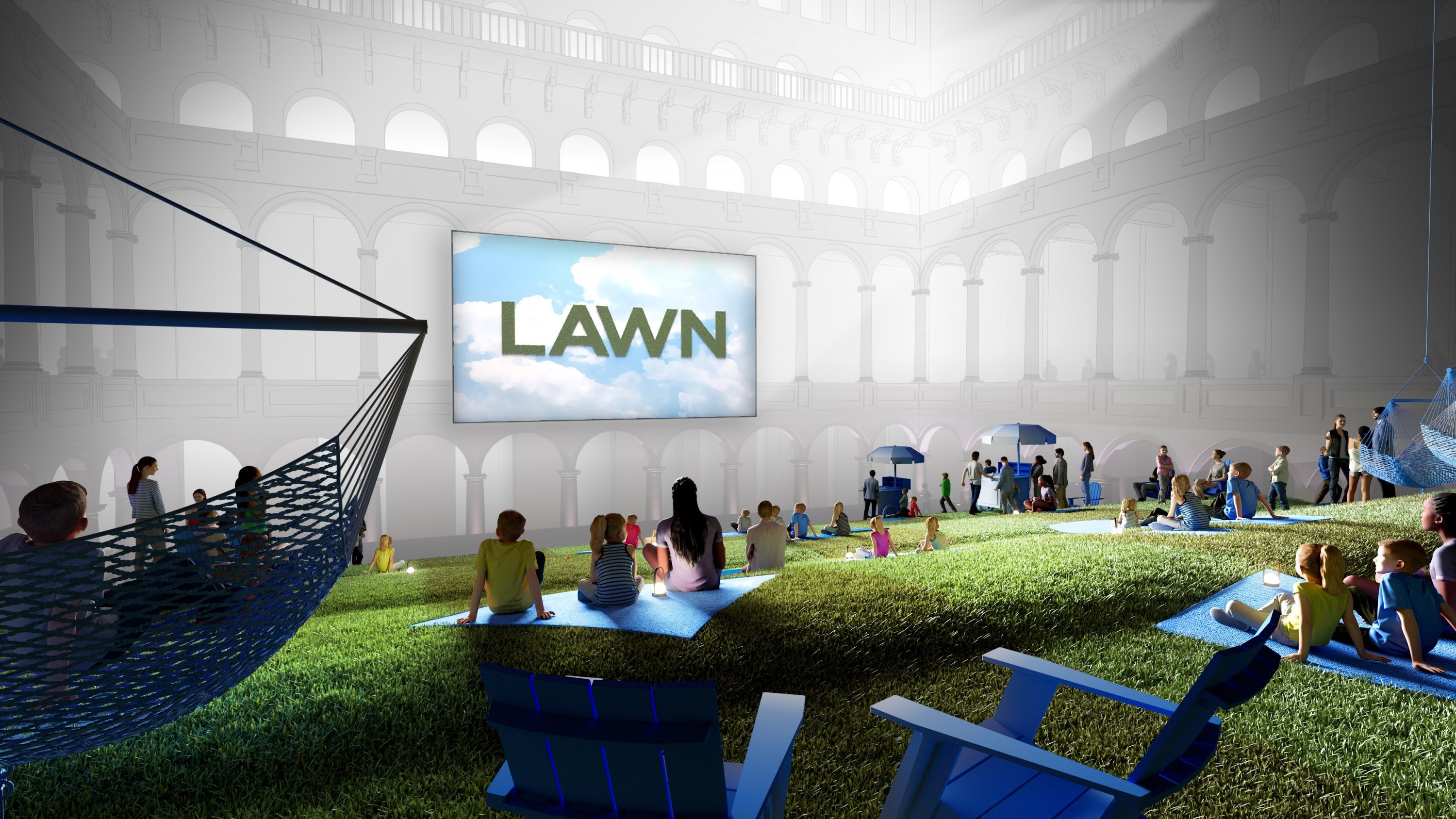 "Photograph of ""Lawn"" Courtesy of LAB at Rockwell Group/National Building Museum"
