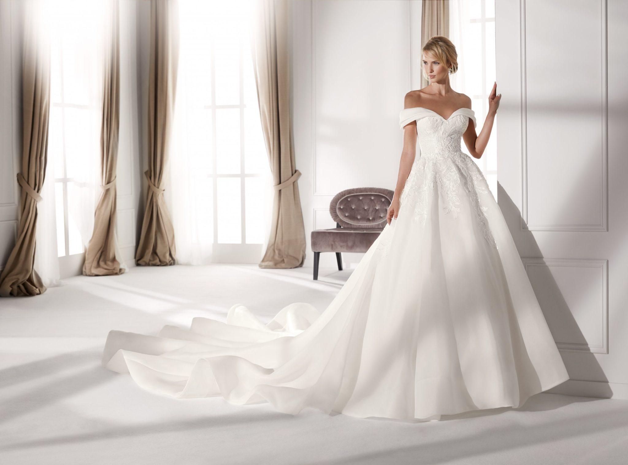 off-the-shoulder-wedding dresses
