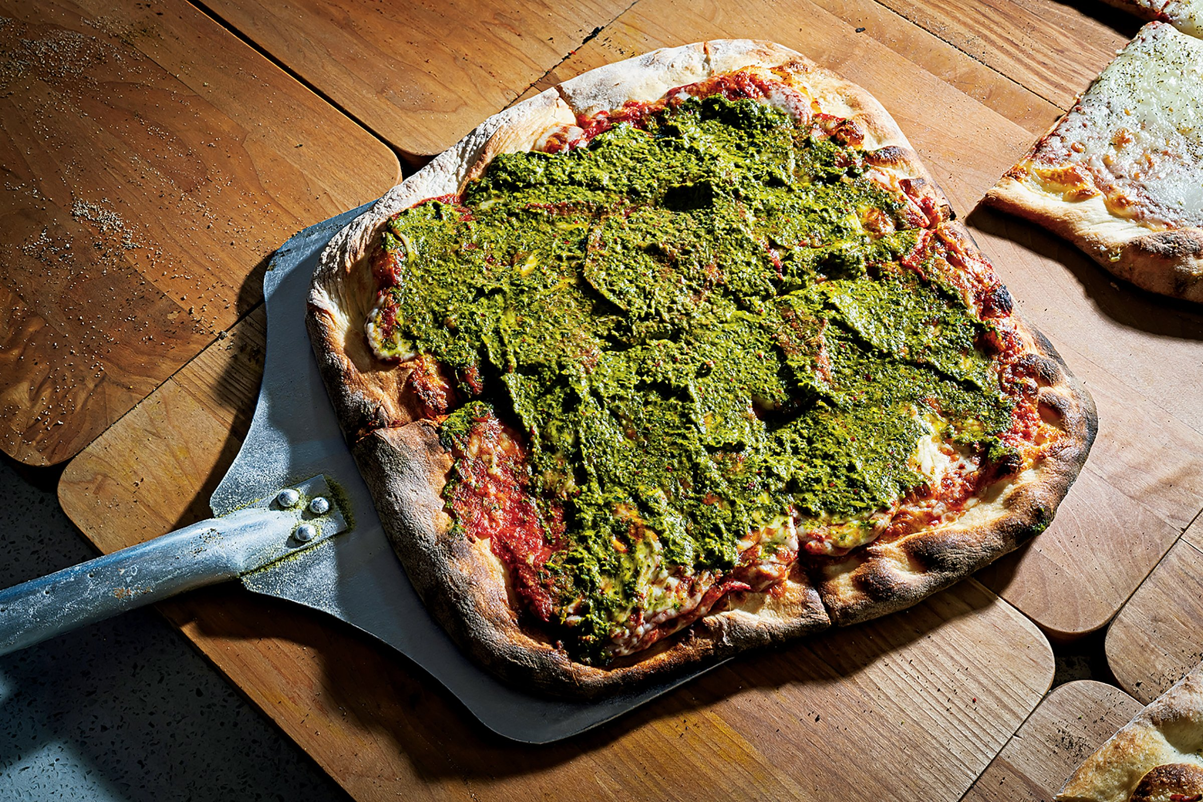 The chimichurri sauced pie at Sliced.