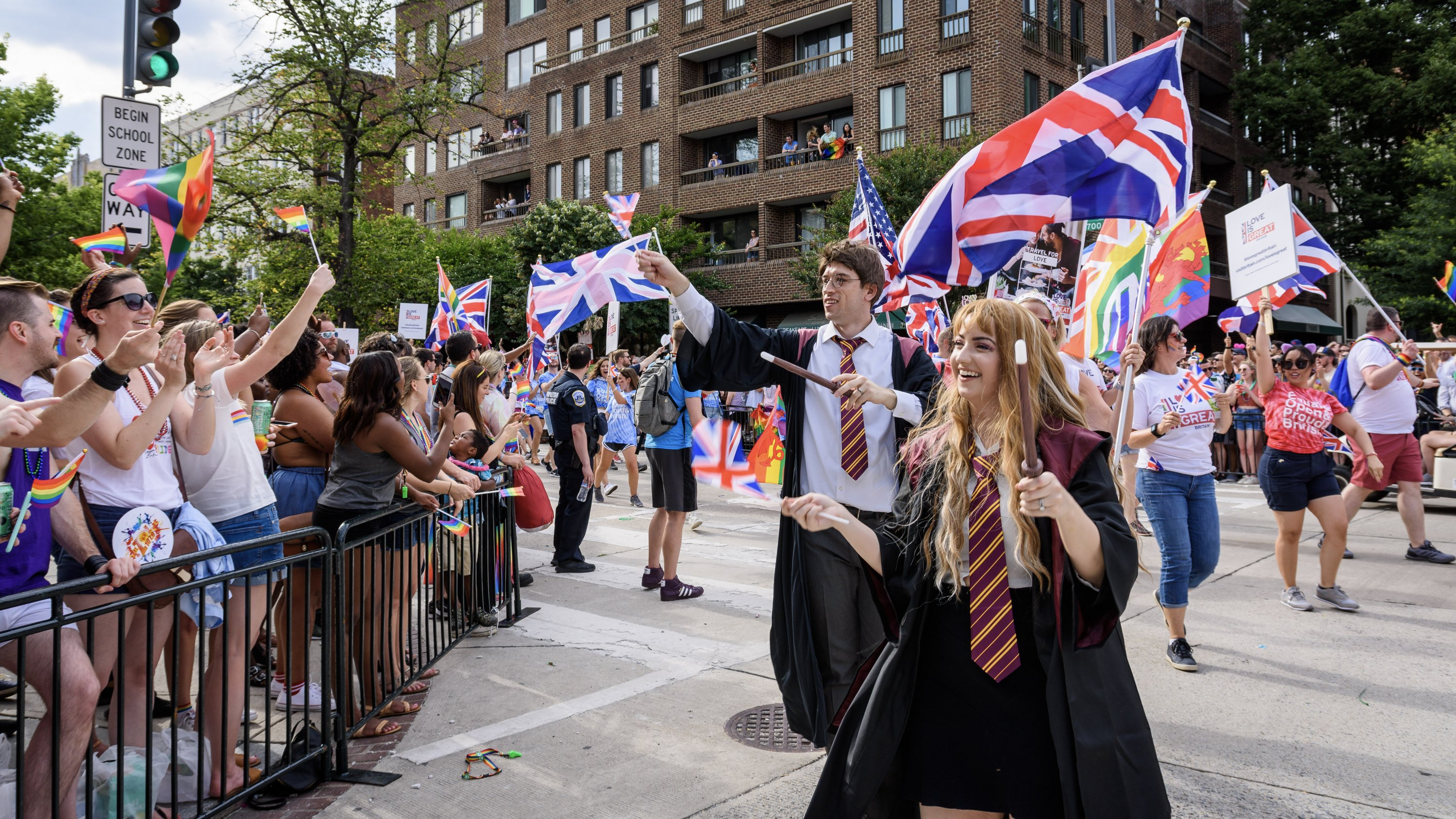 Harry Potter and Hermoine cast a spell on the Capital Pride crowd. Photo by Scott Marder.
