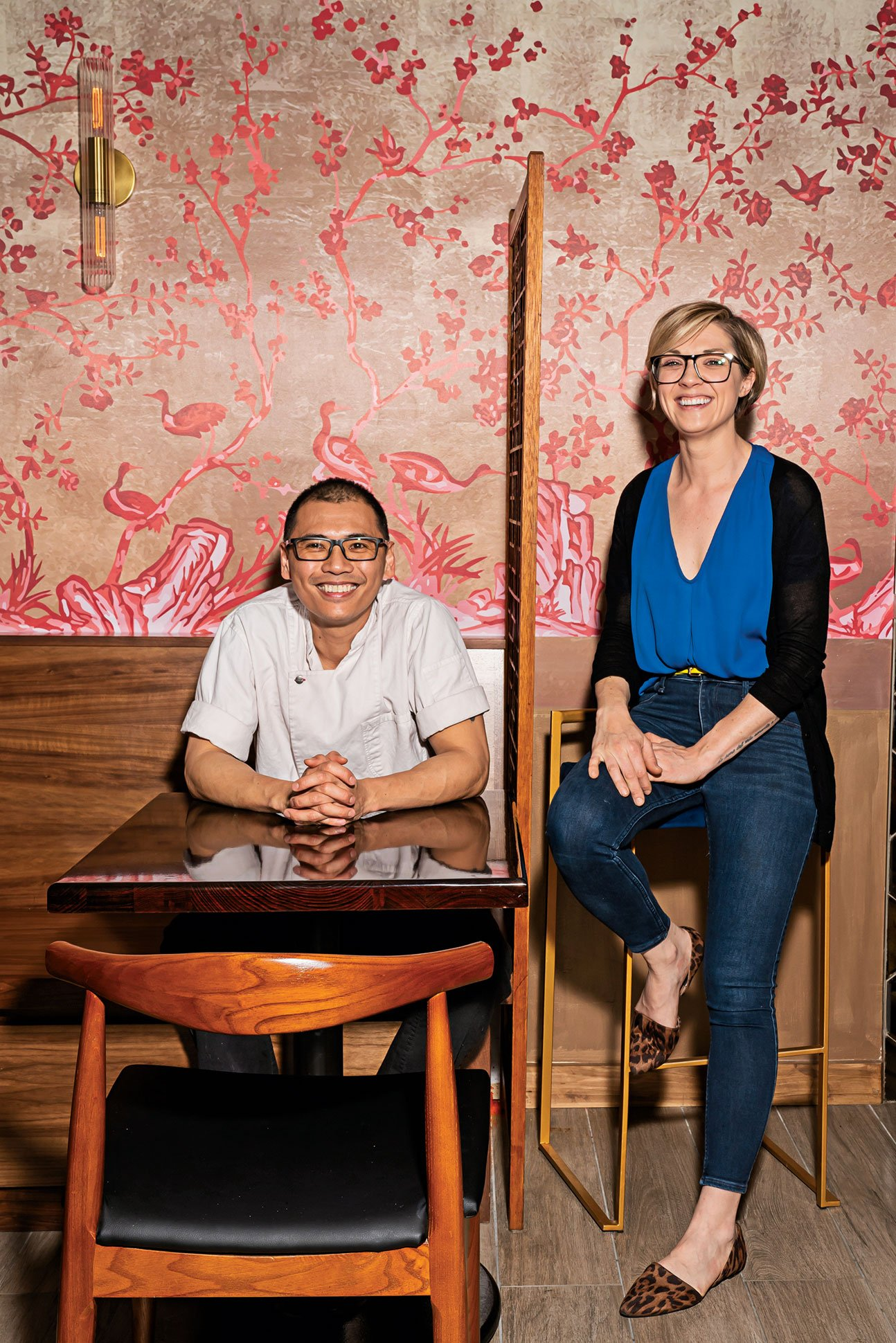 Owners Henji Cheung and Sarah Thmopson. Photograph by Scott Suchman.
