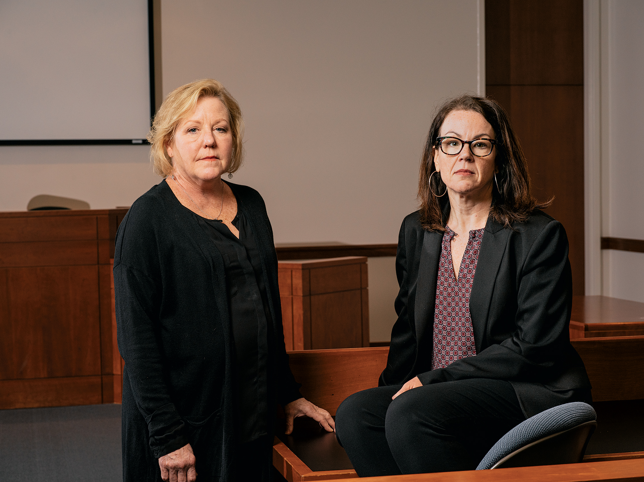 UVA lawyer Deirdre Enright (left) has picked apart the case with Jennifer Givens (right) and others at the Innocence Project for a decade.