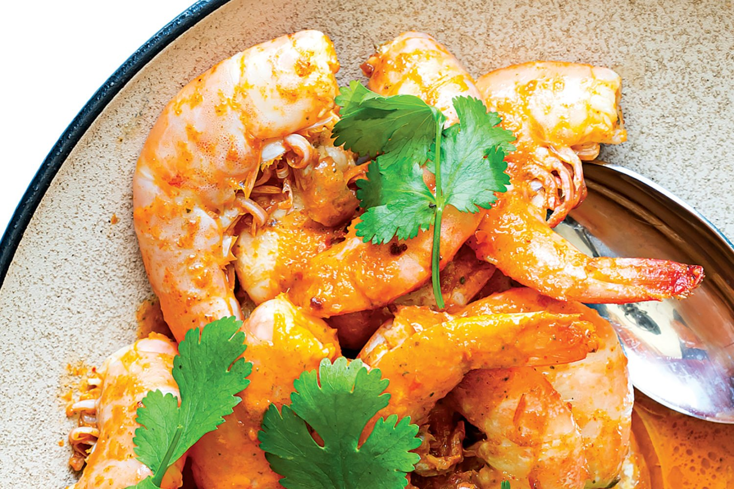 Piri-piri shrimp recipe from Erik Adjepong. Photograph by Scott Suchman.