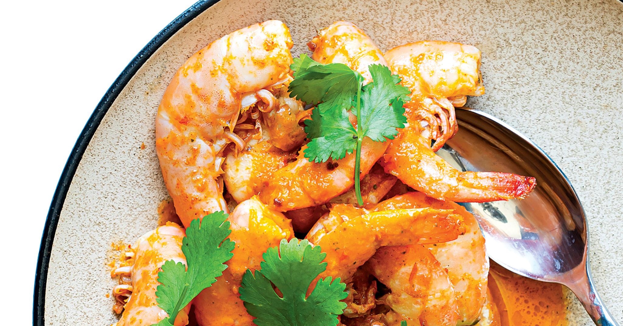 Piri-piri shrimp recipe from Erik Adjepong. Photograph by Scott Suchman.