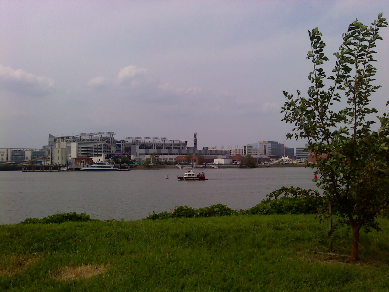 A shot taken at Poplar Point, right across from Nationals Park. Photograph via Flickr.