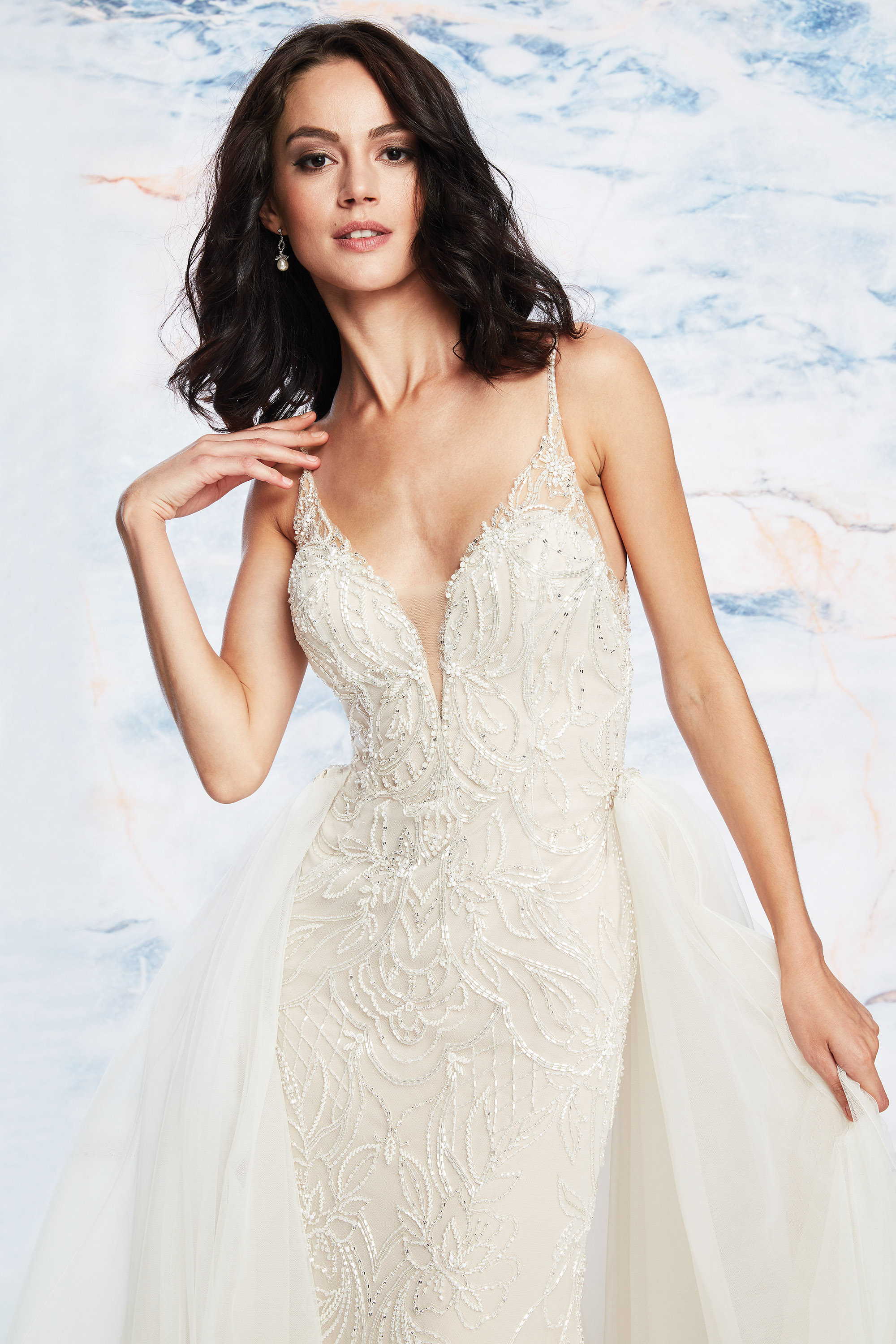 7 Wedding Dresses With Overskirts For A Two In One Look