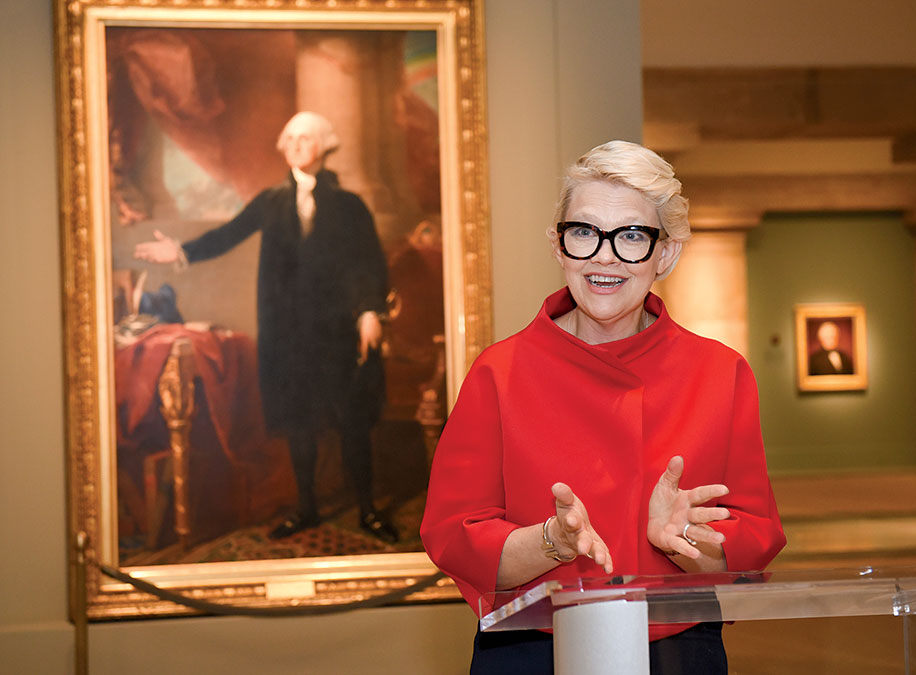 Portrait Gallery director Kim Sajet set Raven off when she phoned him personally to reject his request that his artwork hang at the museum. Photograph by Kevin Wolf/AP Images for the National Portrait Gallery