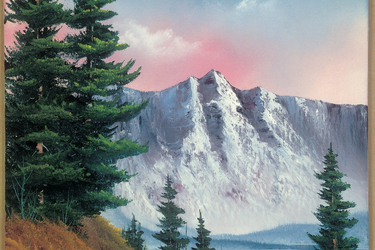 The largest collection of Ross' paintings to ever be displayed at one time will be shown in the Franklin Park Arts Center in Purcellville, Virginia. Courtesy of Bob Ross Inc.