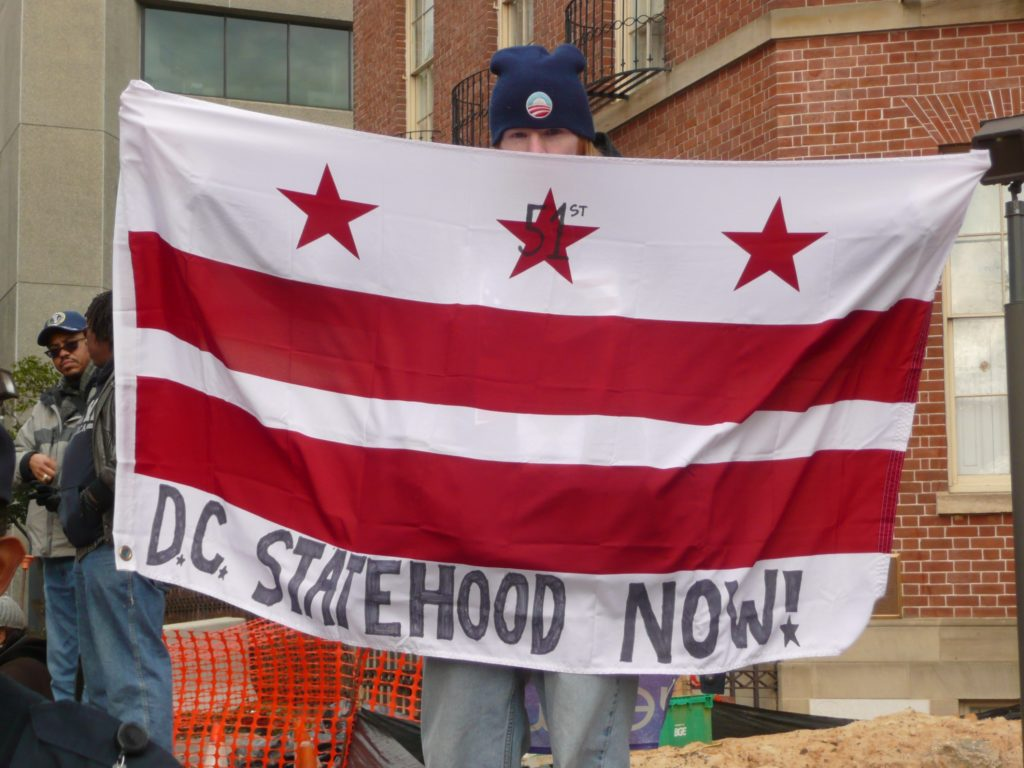 DC statehood now flag at Inauguration 2013 1024x768.'