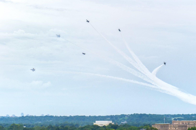 A previous flyover. Photograph by Dan Swartz.