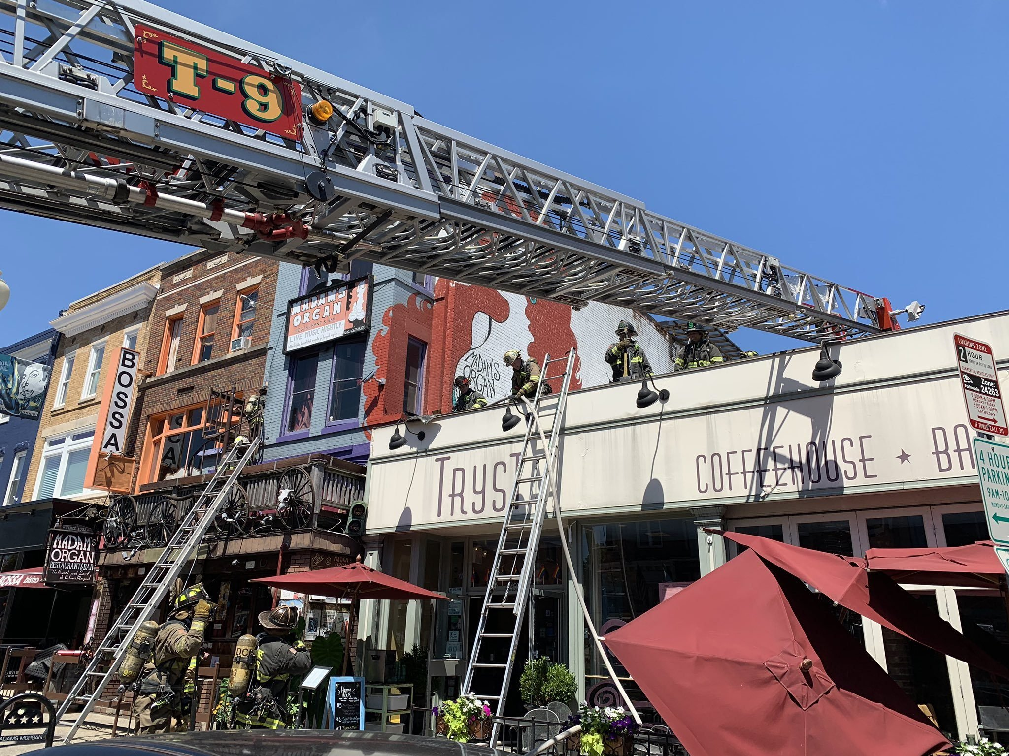 Tryst In Adams Morgan Temporarily Closed Due To Roof Fire