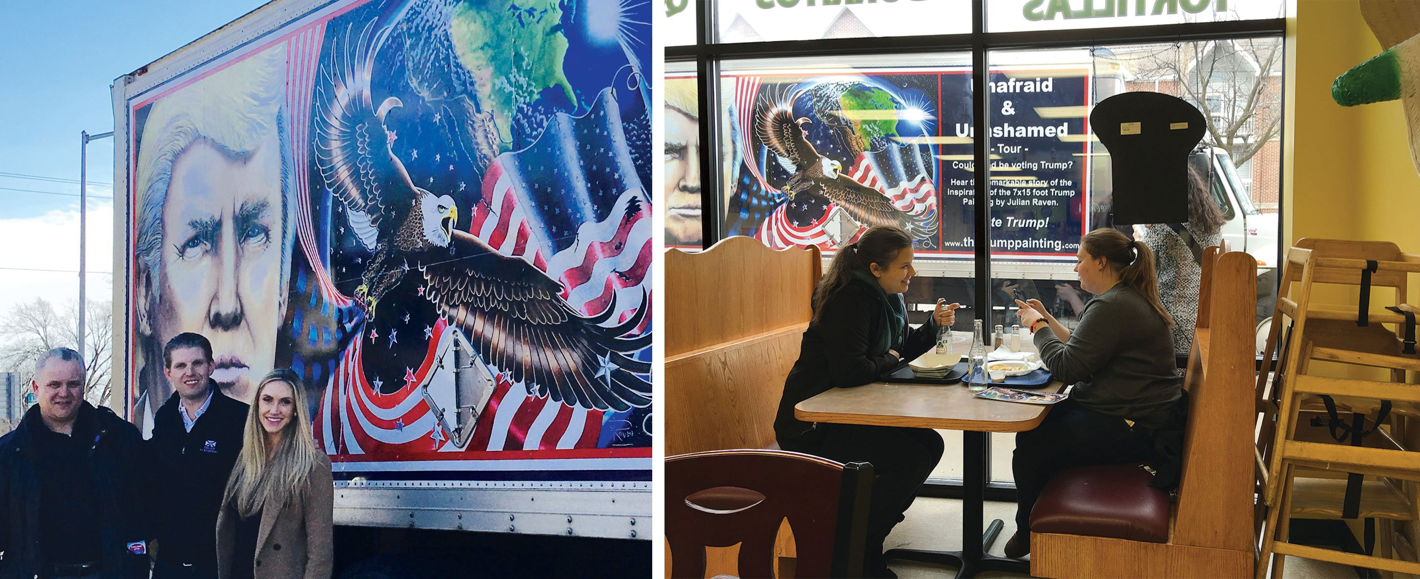 "After a warm reception across the US—including from Eric Trump and Donald Trump, too, Raven was hopeful the painting would hang in DC, the way the ""Hope"" poster had during Barack Obama's inauguration."