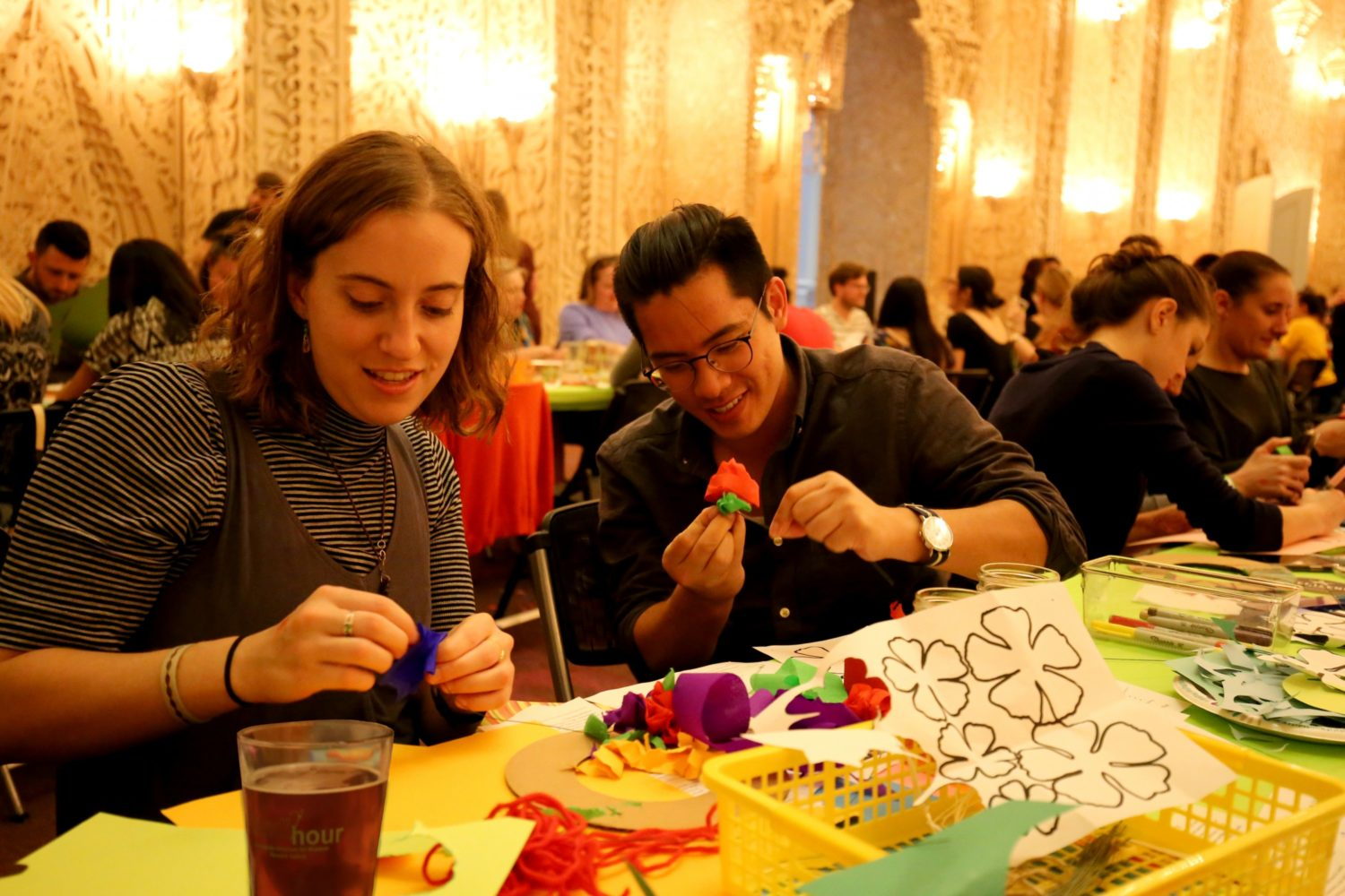 The Renwick gallery is hosting a Handi-Hour with basketmaking and brews. Photograph by Libby Weiler, courtesy of the Smithsonian American Art Museum.