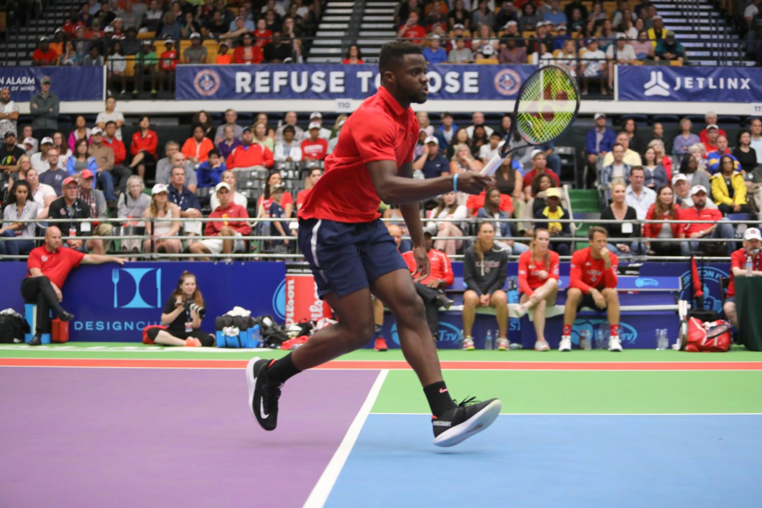 DC's pro tennis team, the Washington Kastles, are playing the opening game of the season at their new stadium in Union Market. Photograph by Kevin Koski.