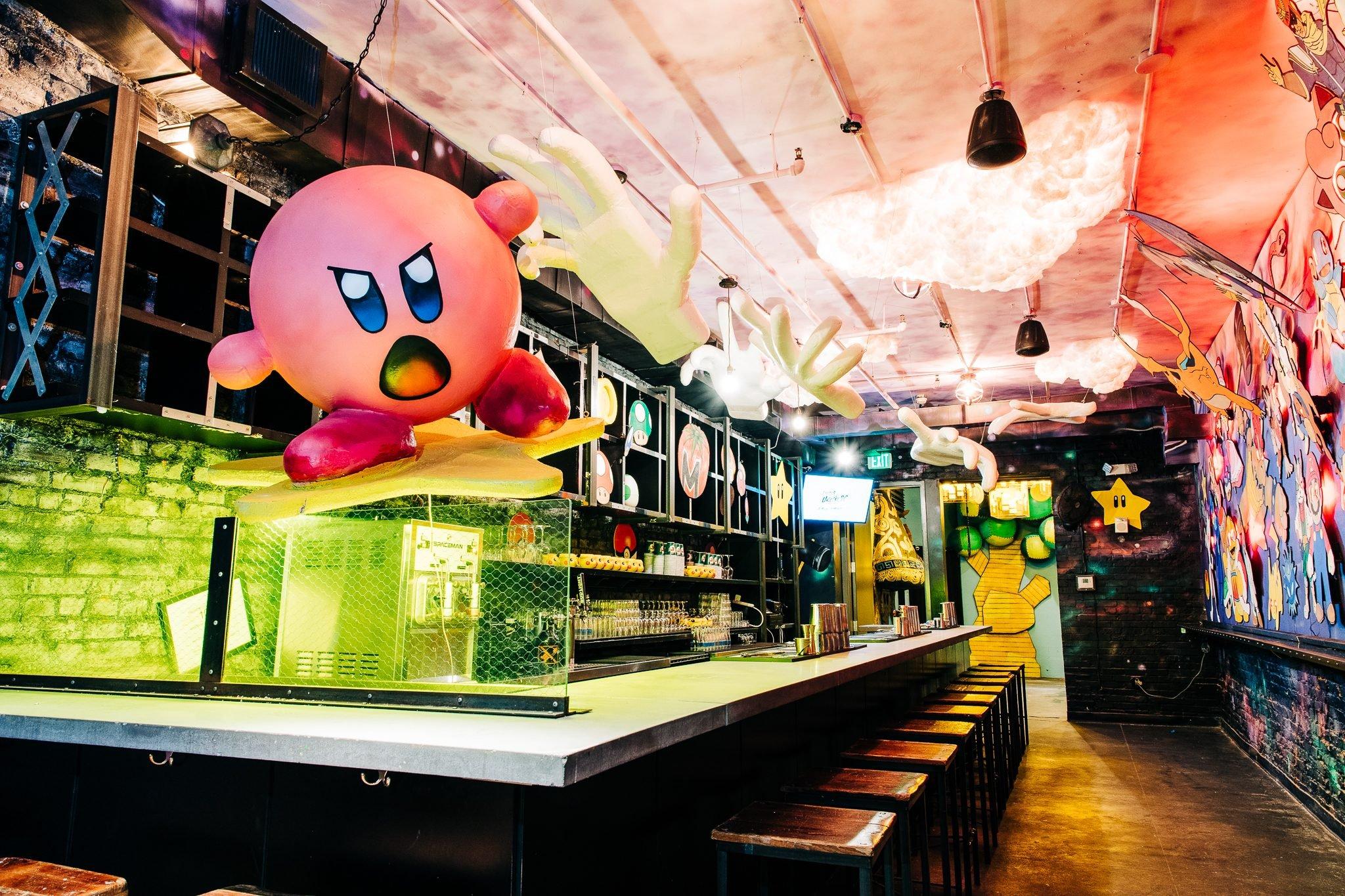 Take a Look Inside Drink Company's Trippy New Esports Pop-Up Bar