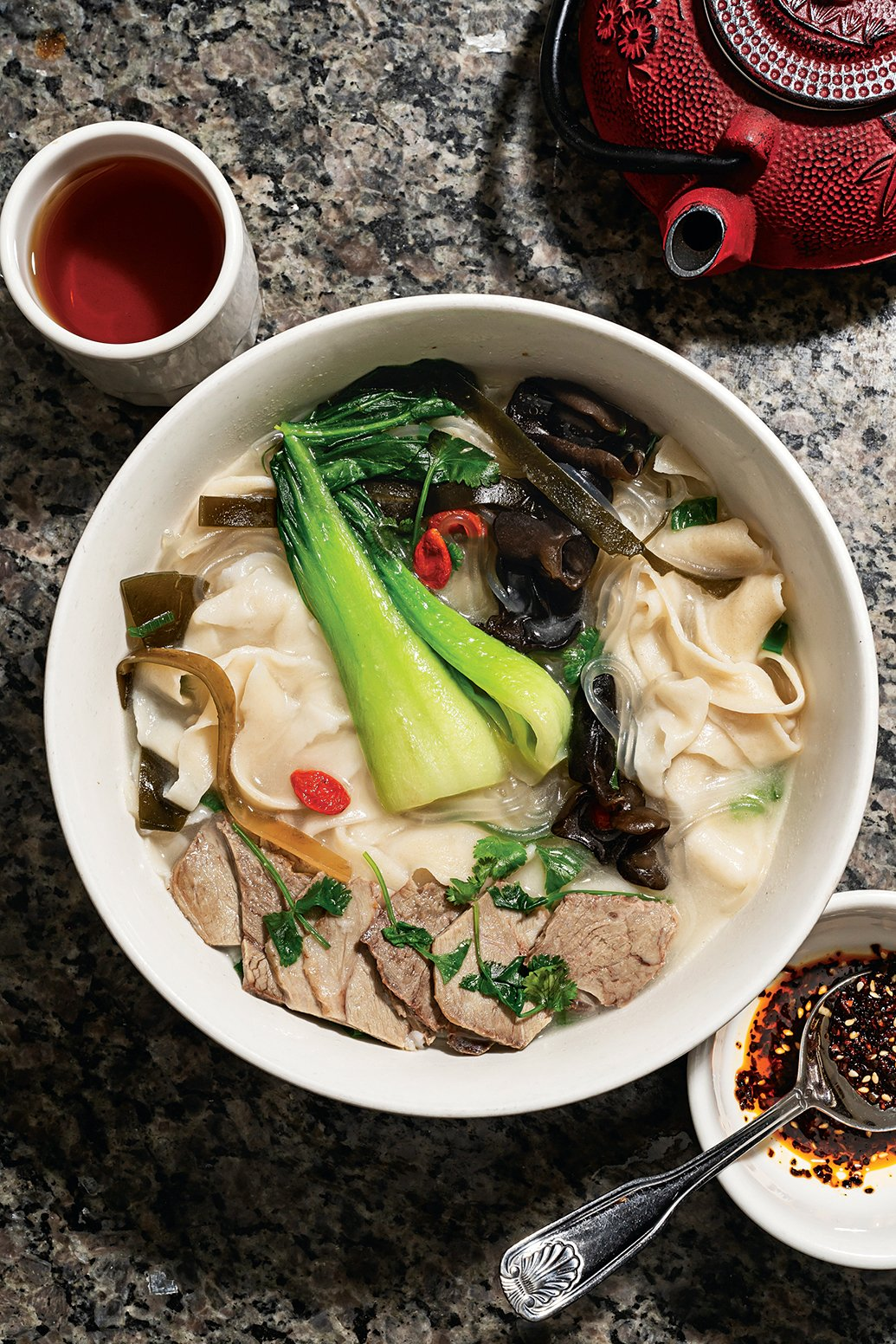 Henan-style hand pulled noodles with lamb.