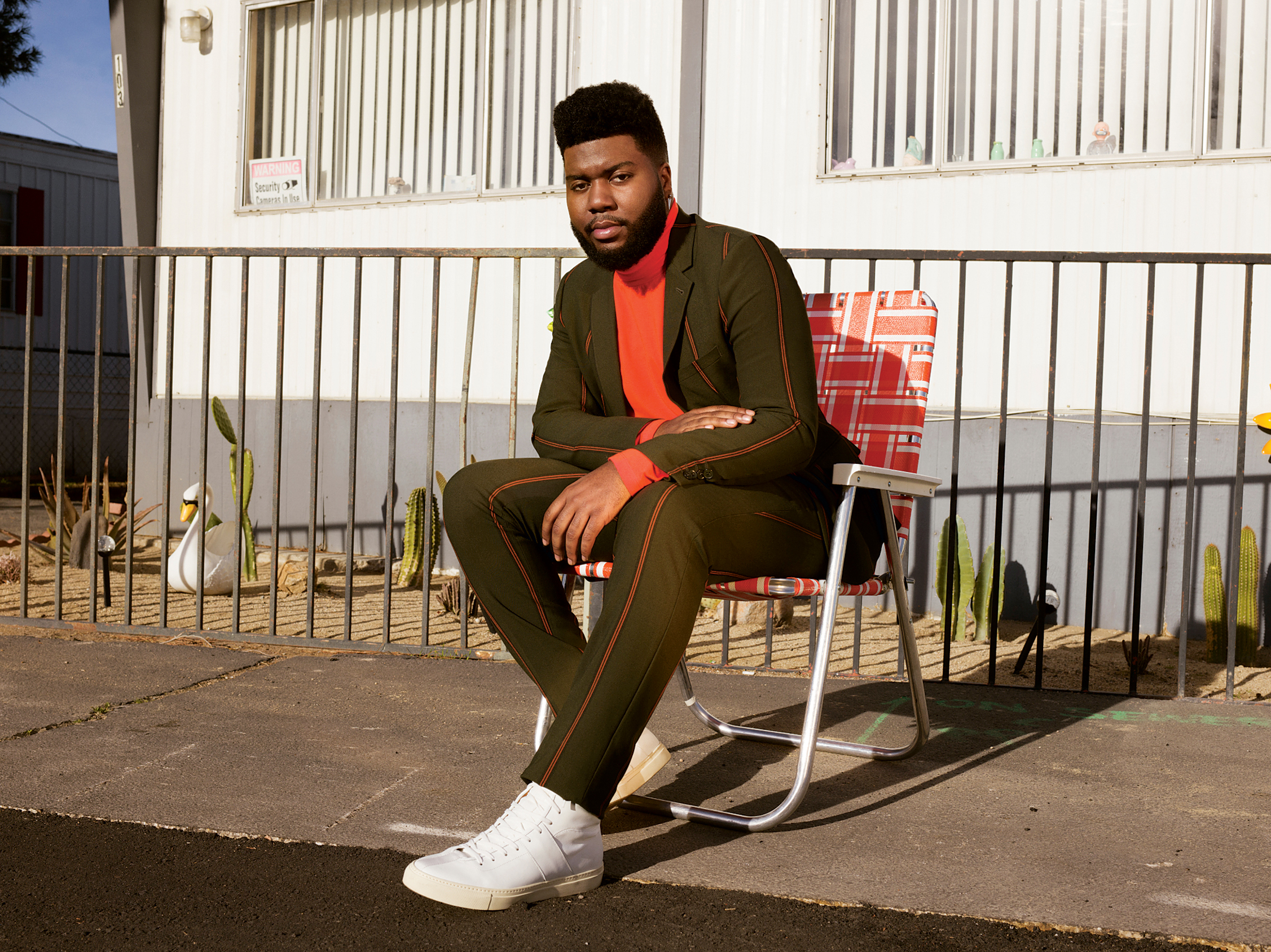 Singer Khalid. Photograph by Grace Pickering.