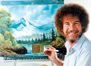 """""""Happy Accidents: An Exhibit of Bob Ross Paintings"""""""