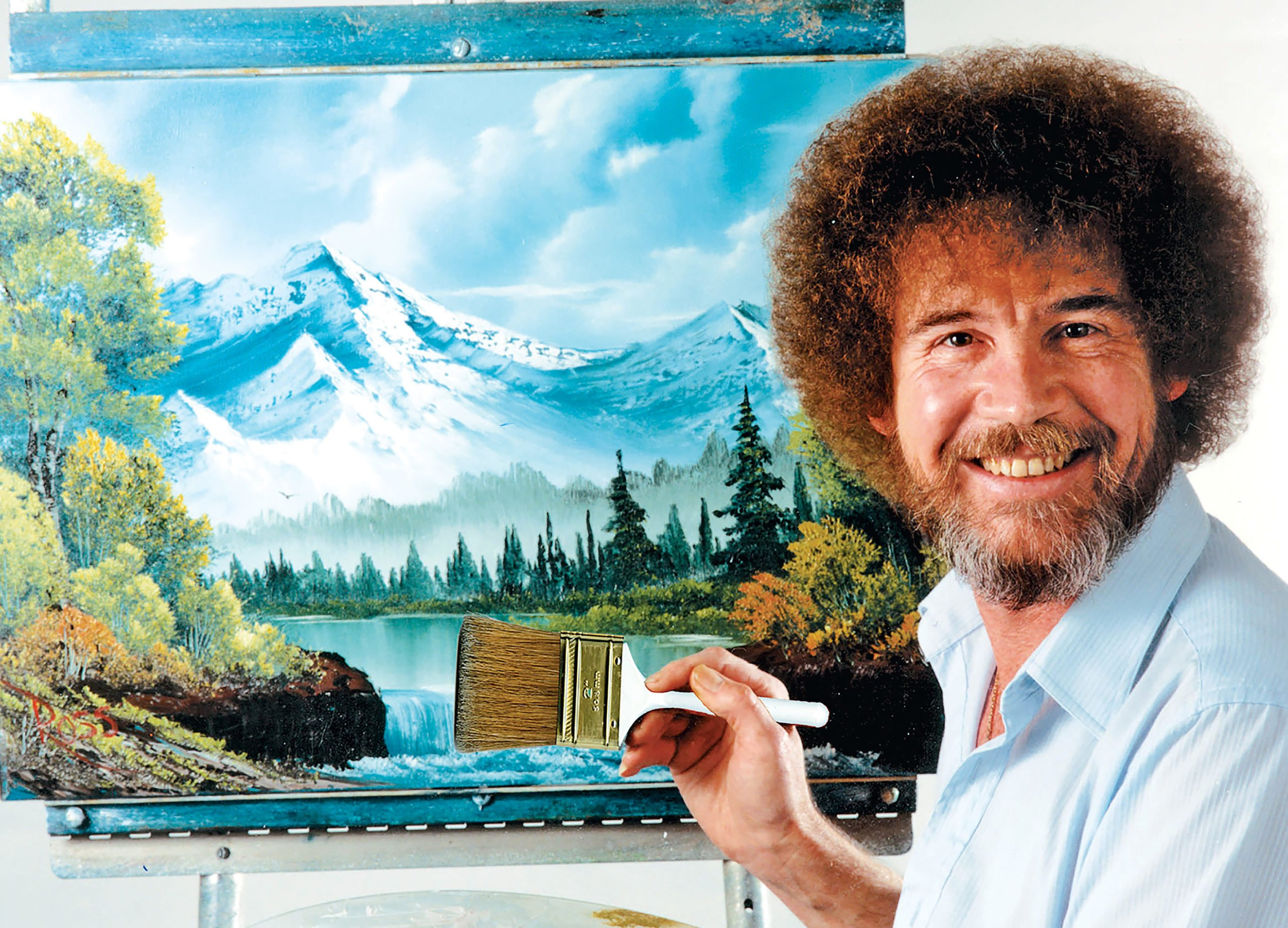 """Happy Accidents: An Exhibit of Bob Ross Paintings"""