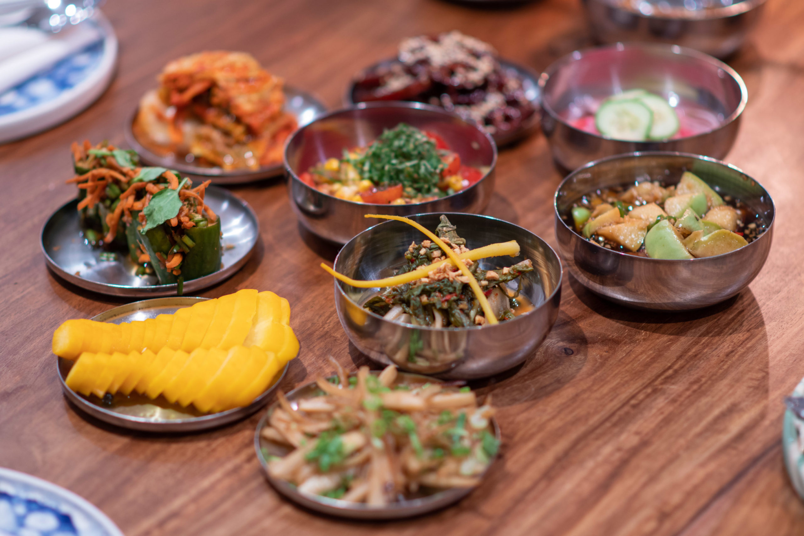 Panchan (small vegetable dishes)