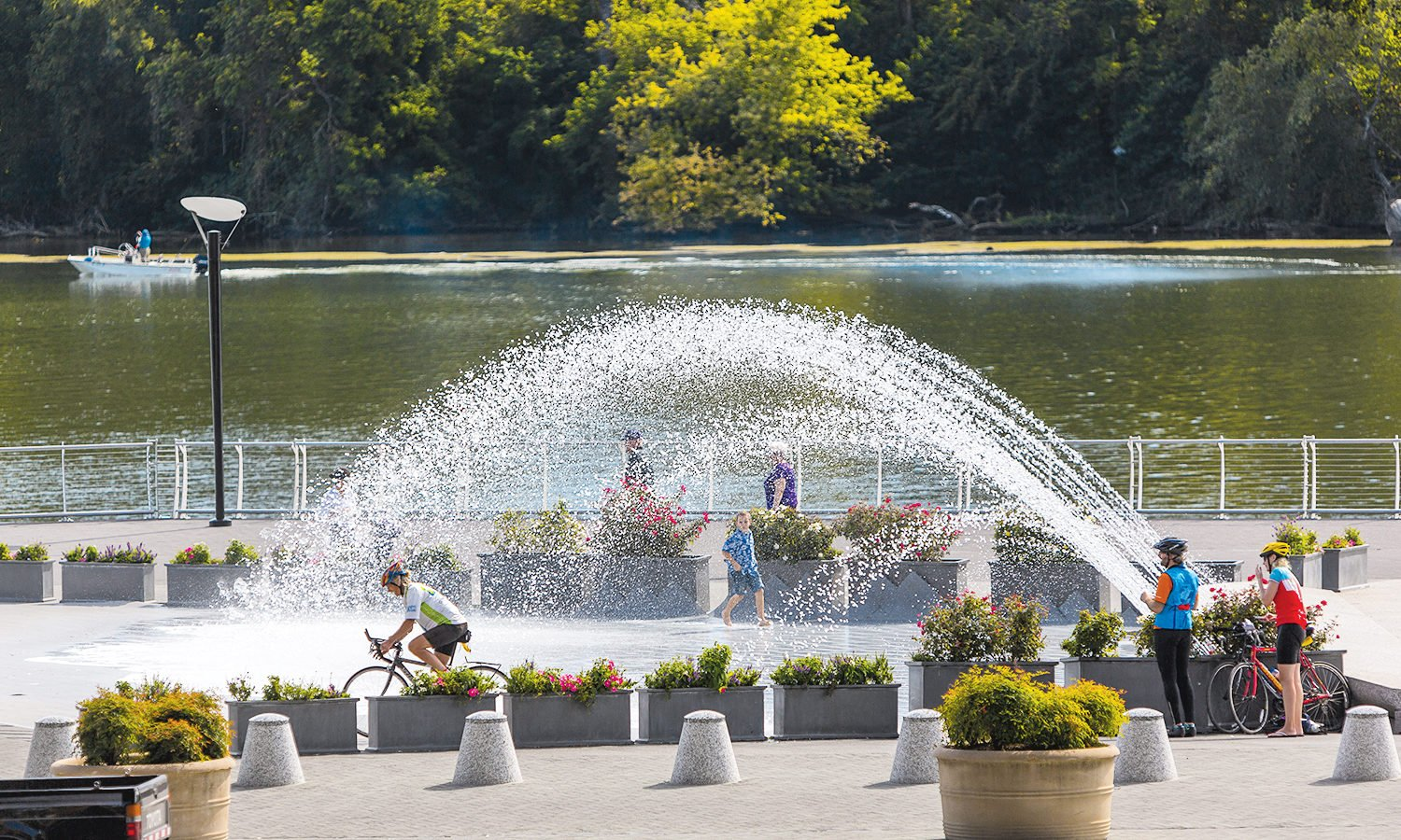 Photograph of Georgetown Waterfront Park by Rob Crandall/Alamy